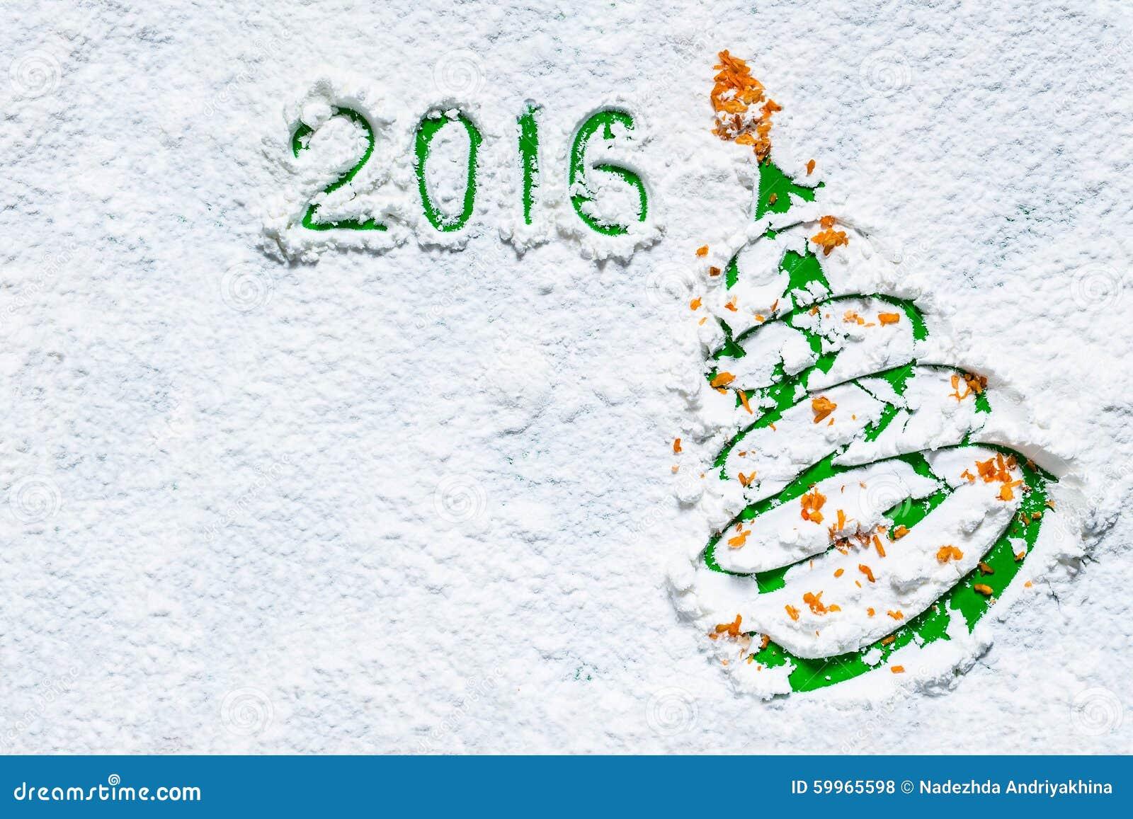 Idea Design Christmas Cards - Christmas Tree In The Snow Stock Photo ...