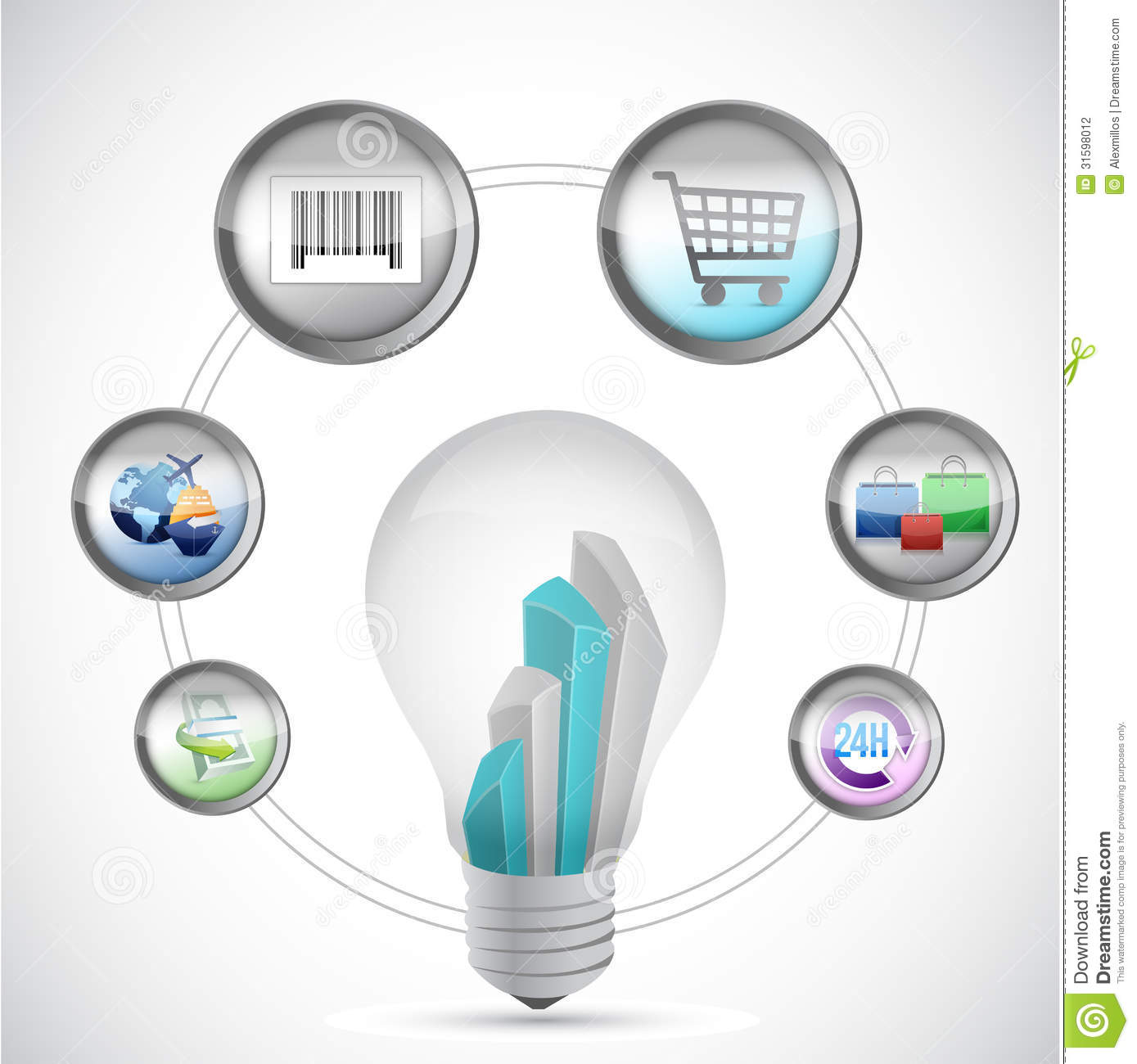 Idea e commerce and online shopping concept stock for Idee online