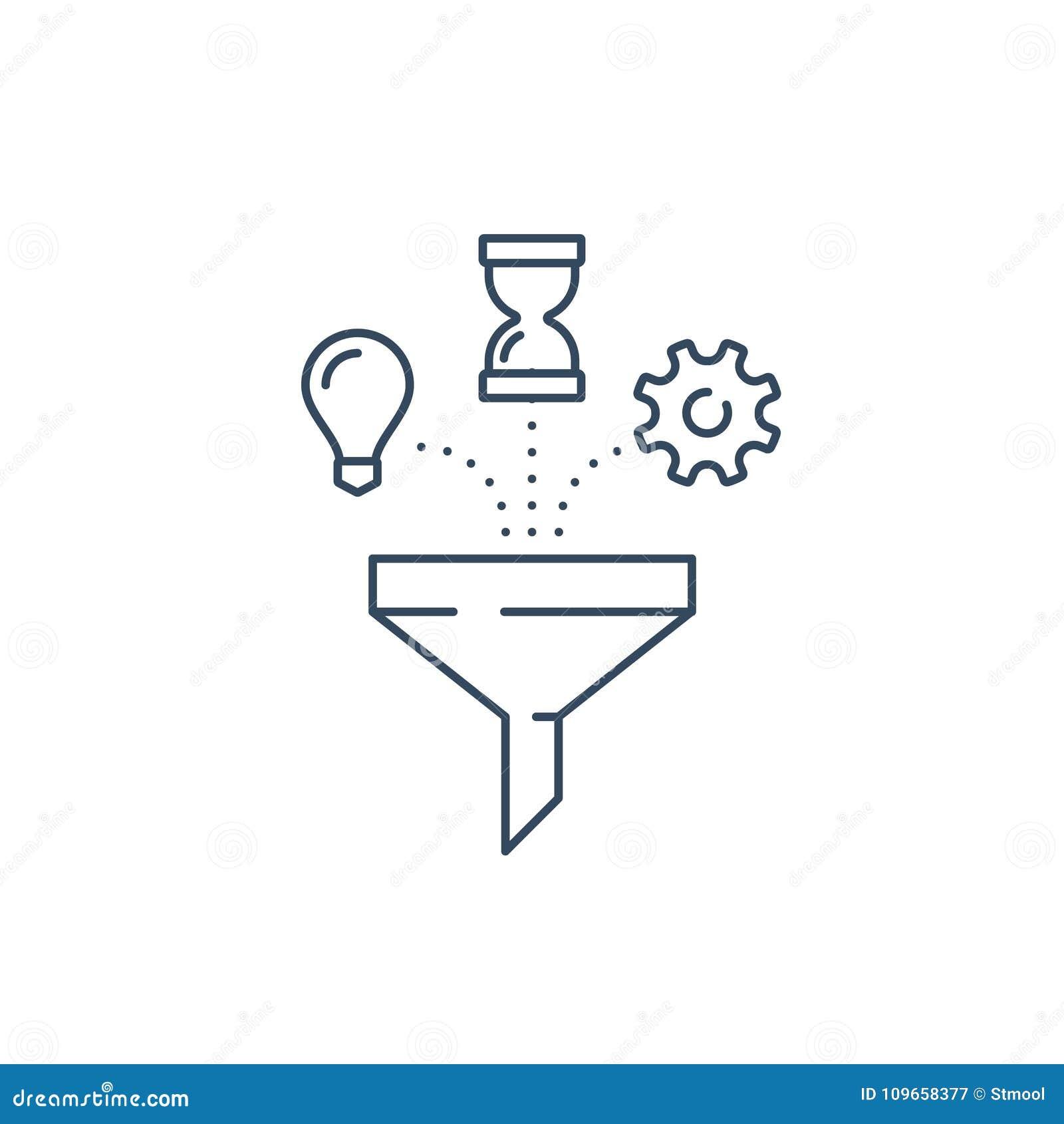 21162d2942d7 Idea Light Bulb, Sand Clock And Cogwheel, Project Management Parts ...
