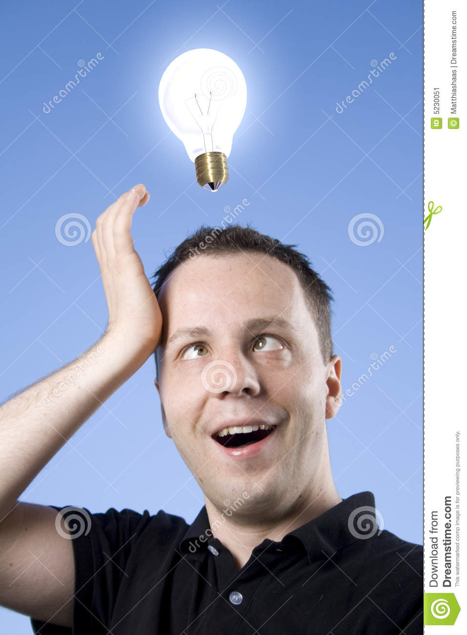 Idea Lightbulb Stock Photo 5230051