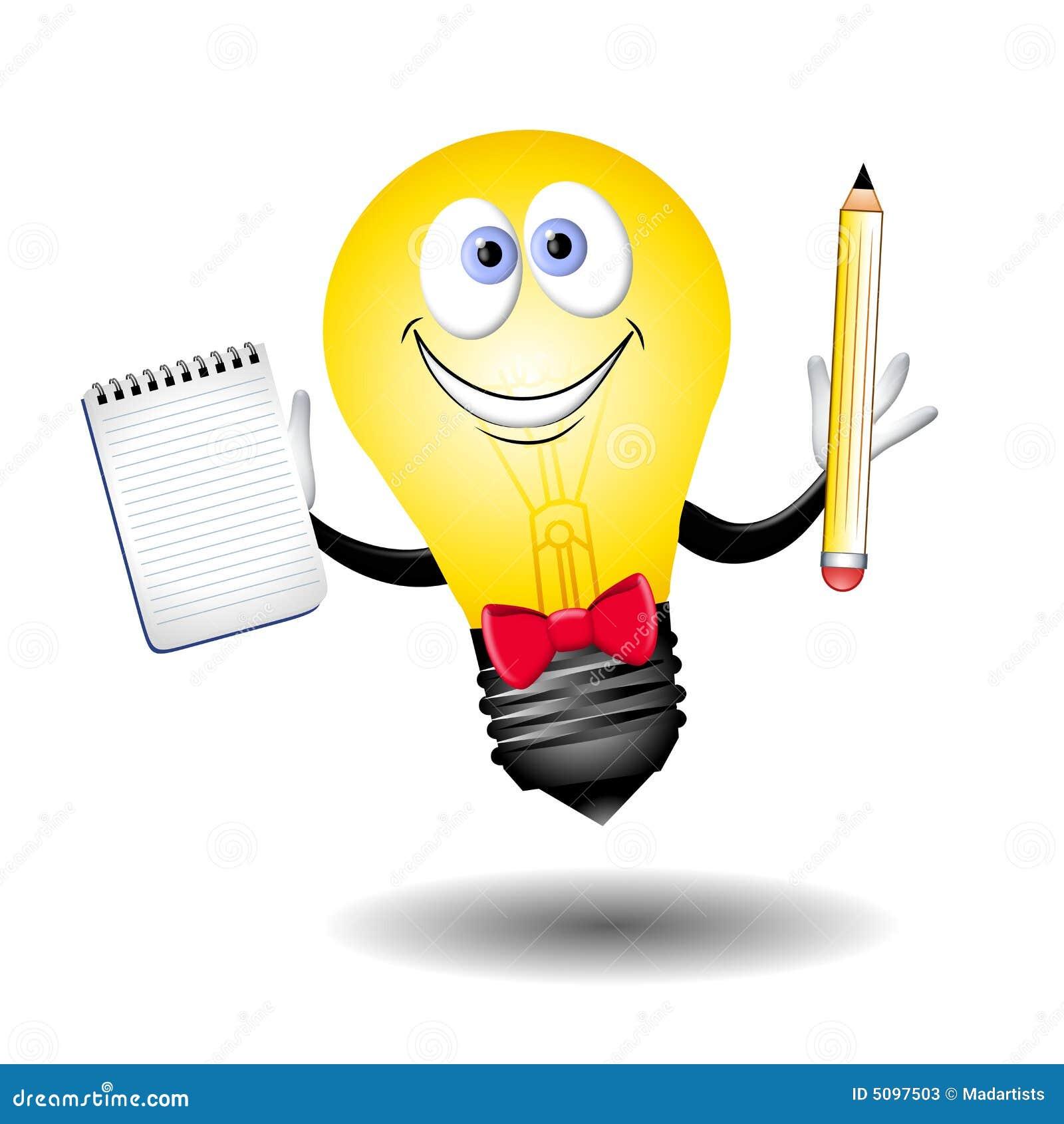 The Idea Lightbulb Guy Stock Illustration Of Cartoons