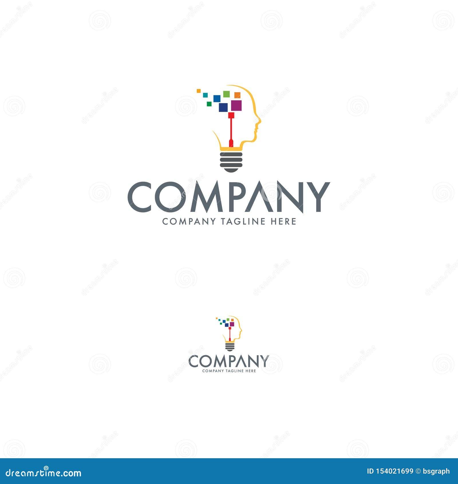Idea Logo Design Template de la tecnología