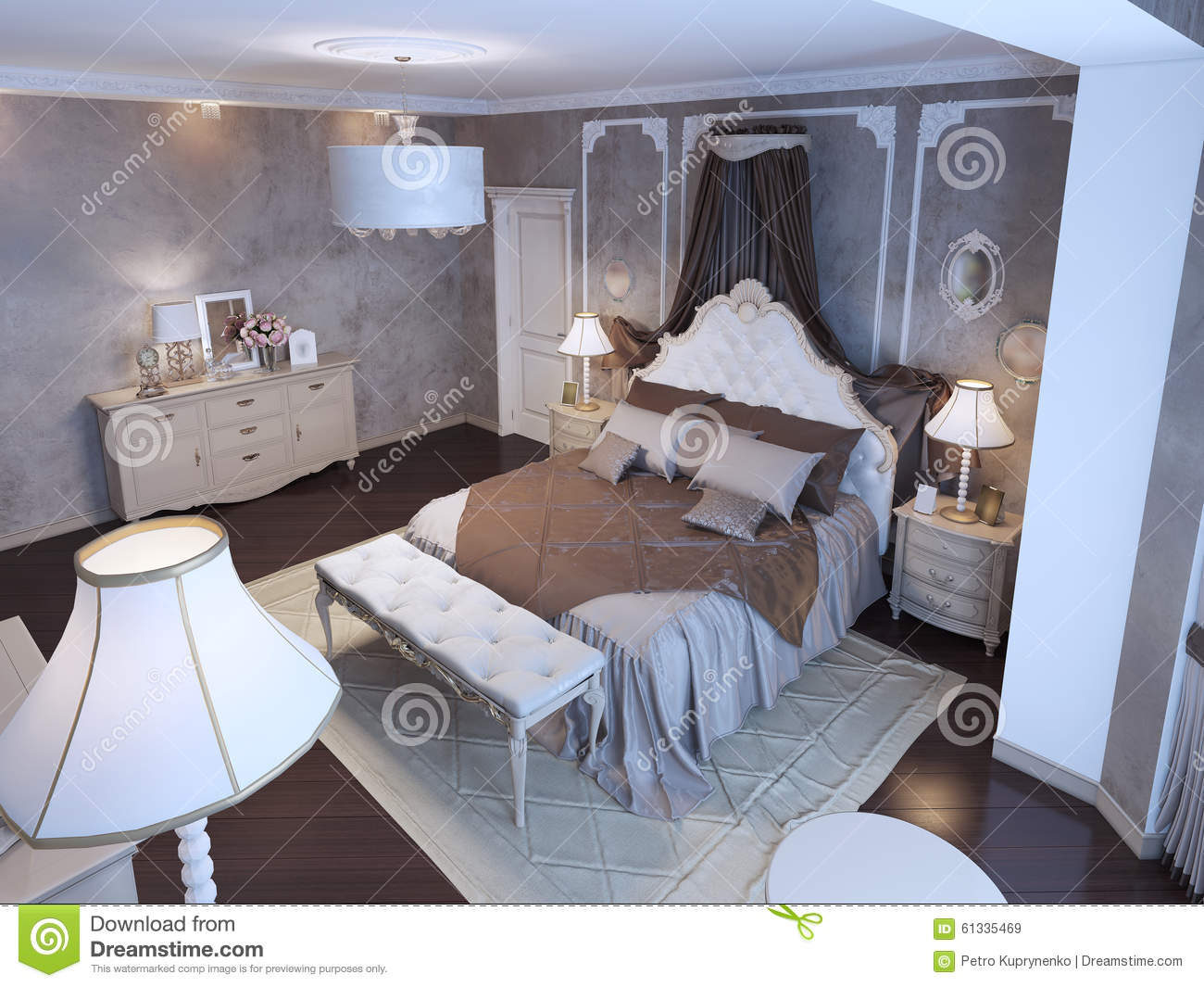 Idea Of Master Bedroom Stock Illustration Image 61335469