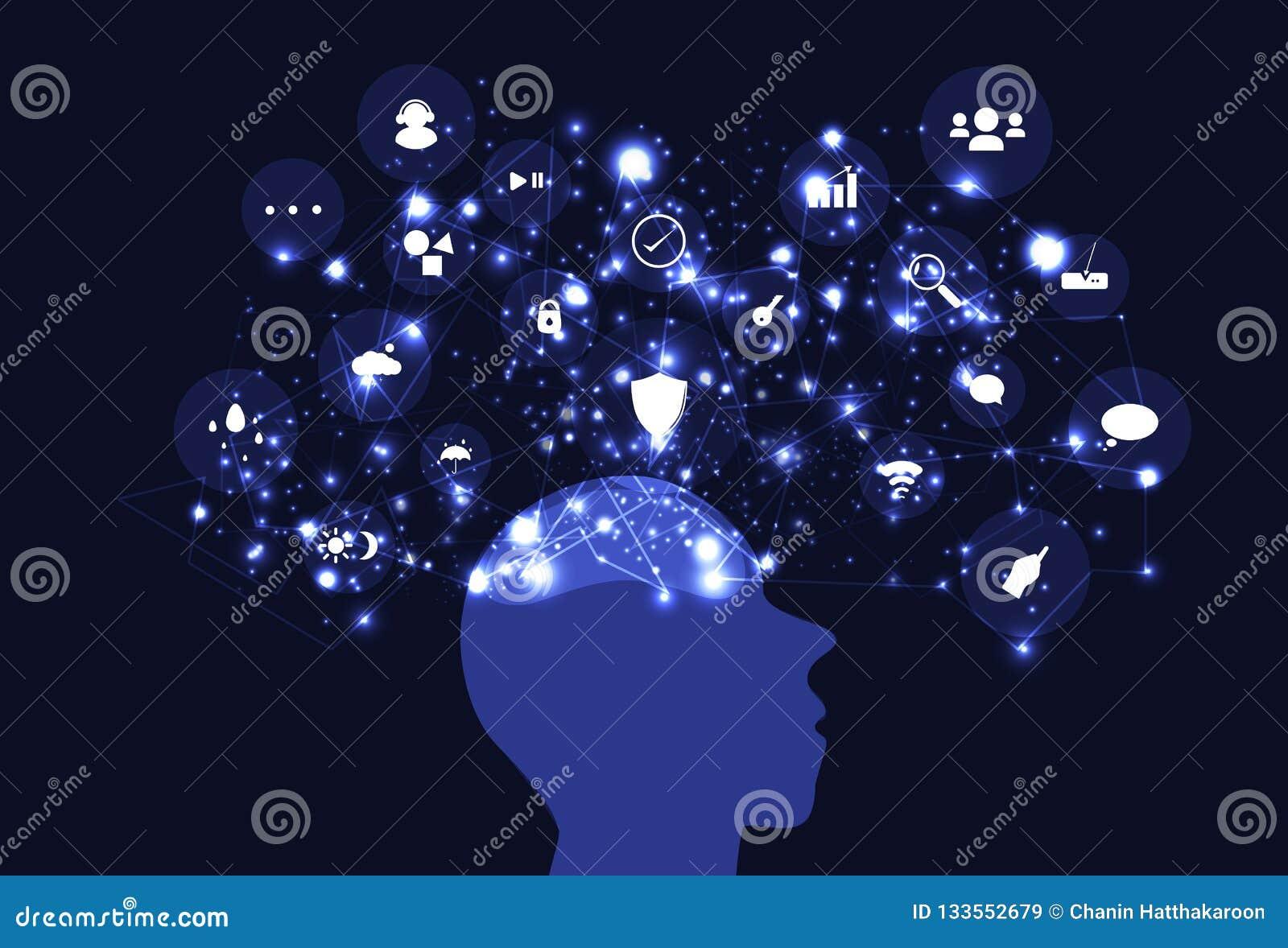 Idea mind mapping creative inspiration, brain thinking network t
