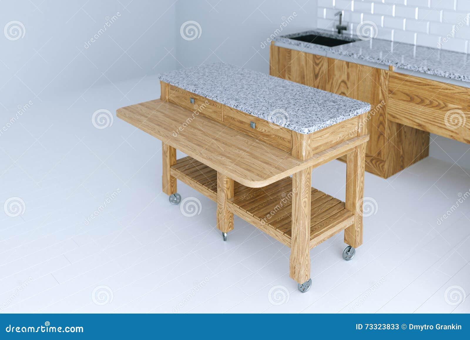idea perfecta para el diseo interior de la cocina con los muebles de madera foto