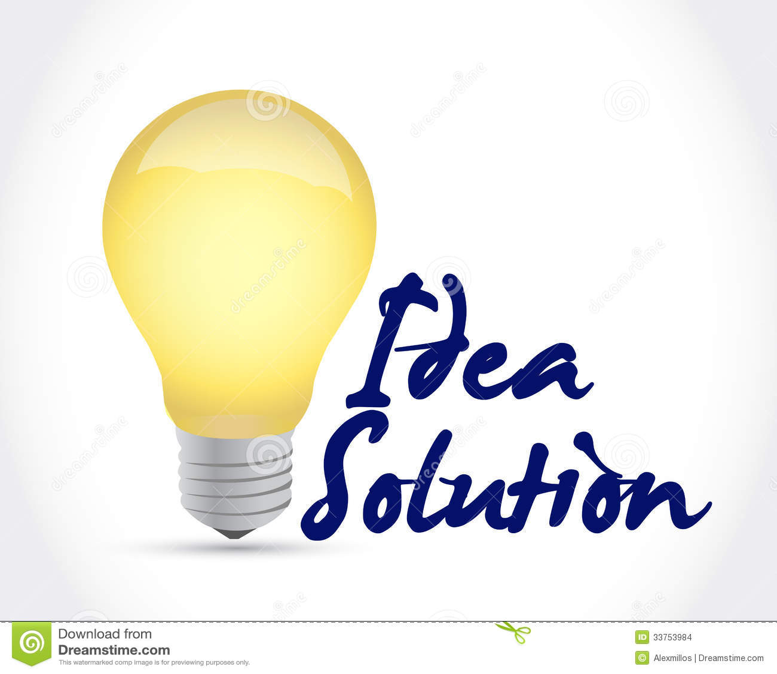 Idees And Solutions: Idea Solution Light Bulb Illustration Design Stock