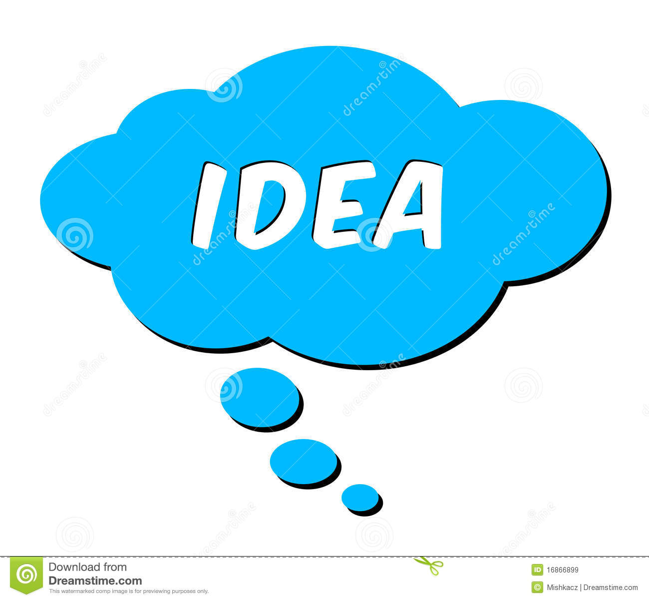 Idea In Thought Bubble Royalty Free Stock Images Image