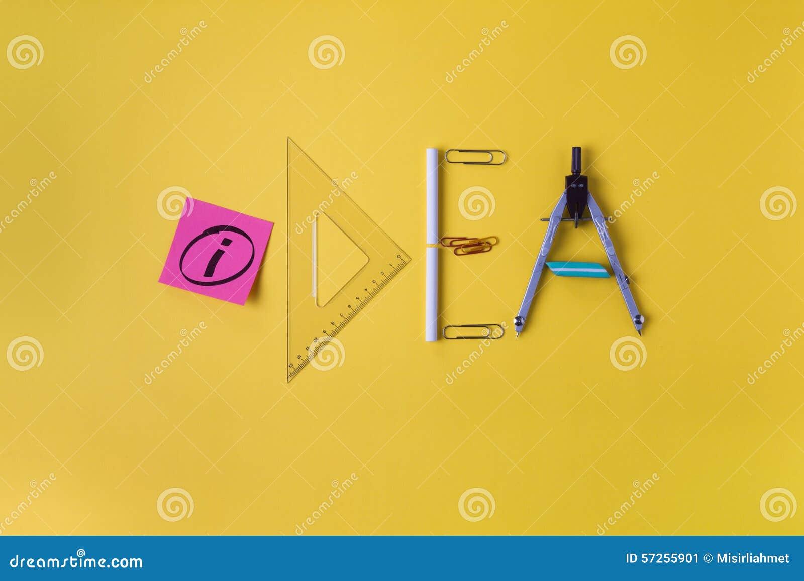 idea office supplies. Royalty-Free Stock Photo Idea Office Supplies N