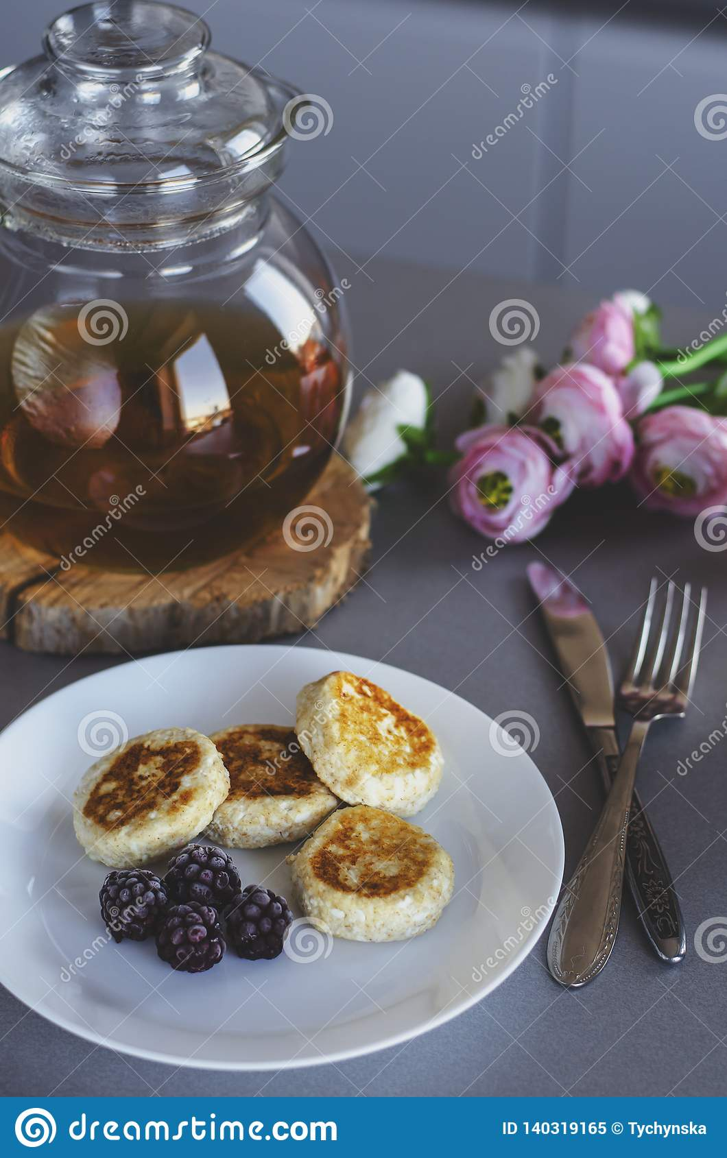 Ideal Breakfast For Healthy Lifestyle Stock Image - Image of