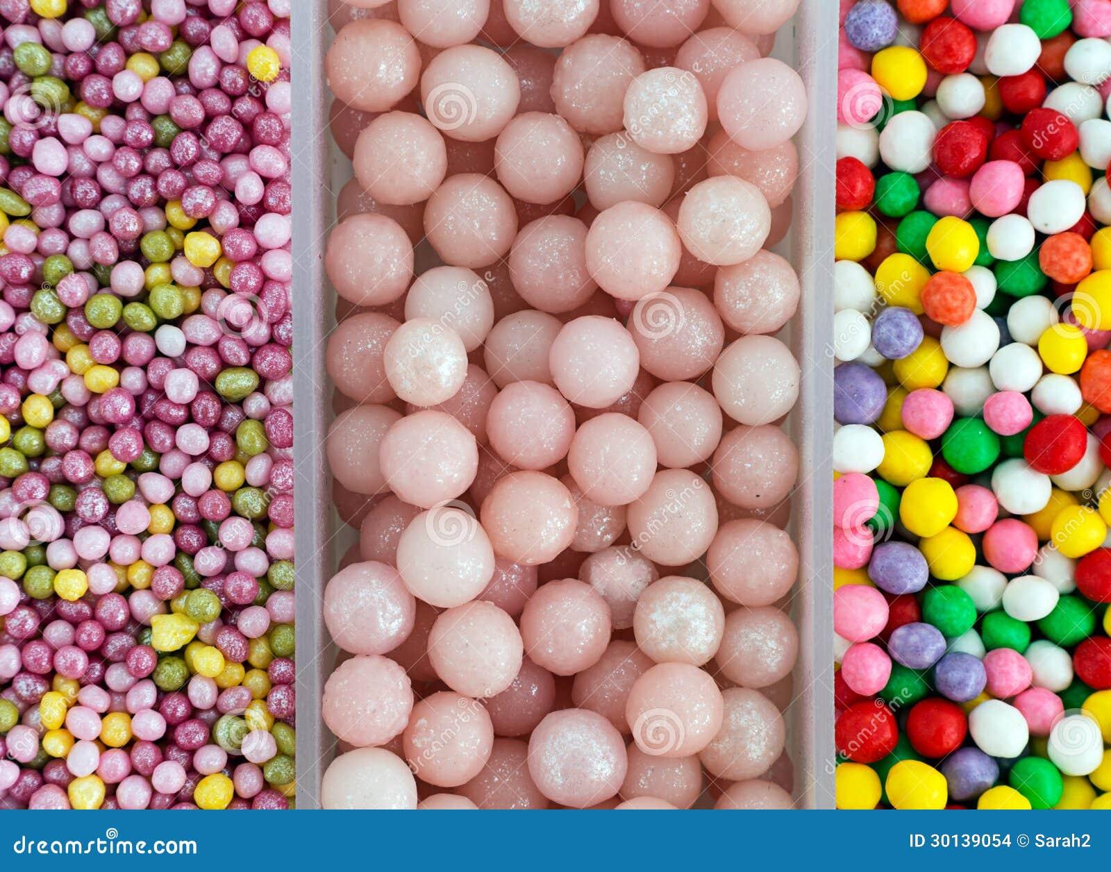 Sugar Ball Sweet Cake Decorations Aka Sprinkles Stock