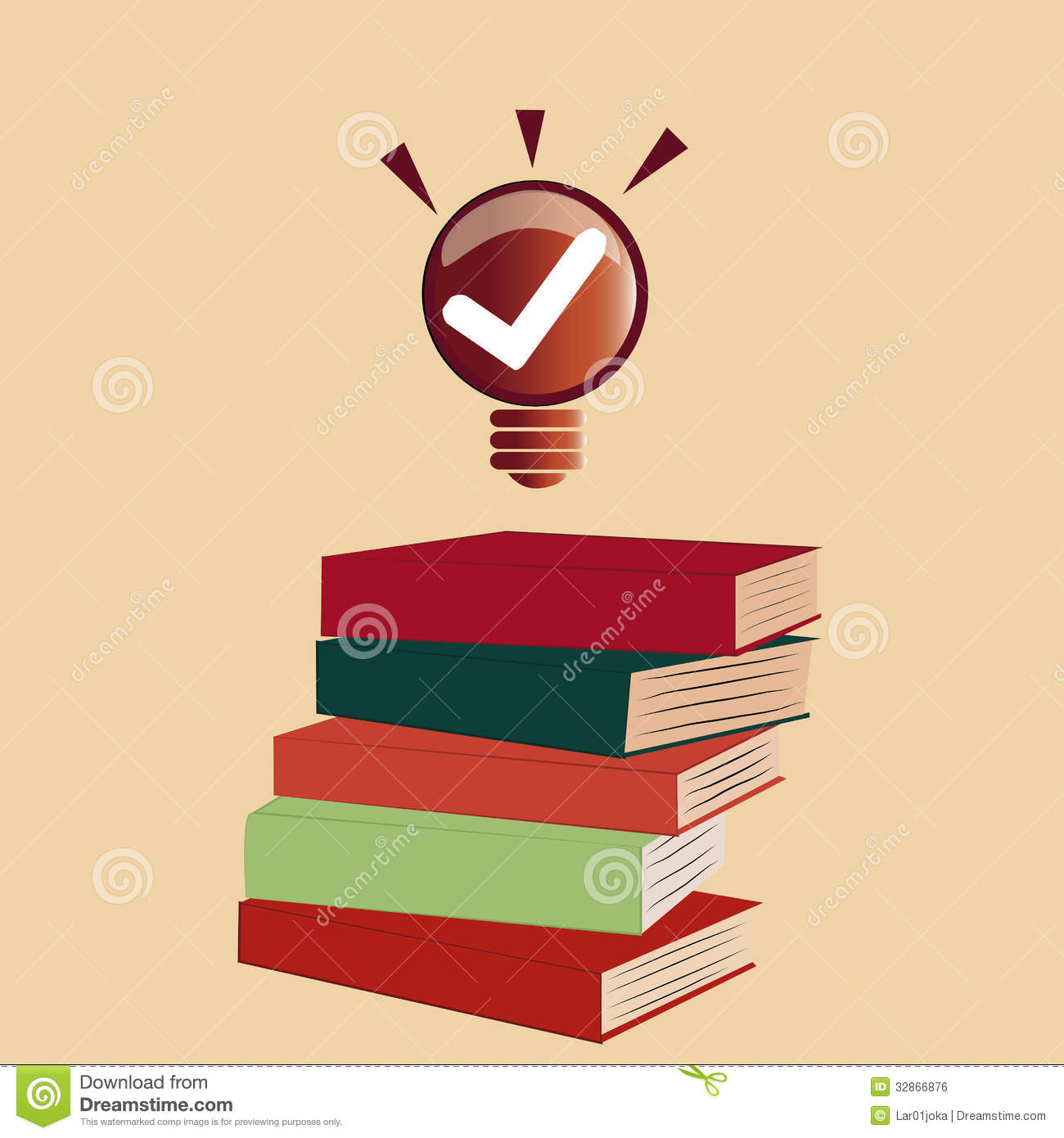 Check Out The Lights Over The: Ideas Coming Out From Books Royalty Free Stock Image