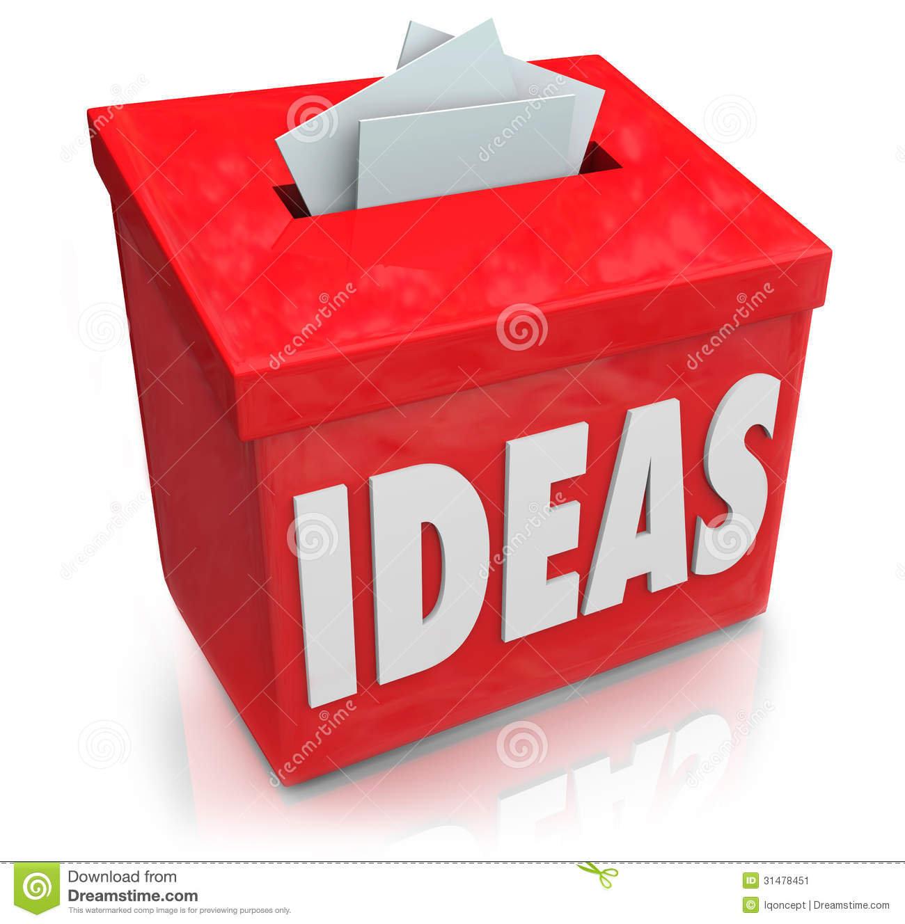 ideas creative innovation suggestion box collecting thoughts ide stock illustration. Black Bedroom Furniture Sets. Home Design Ideas