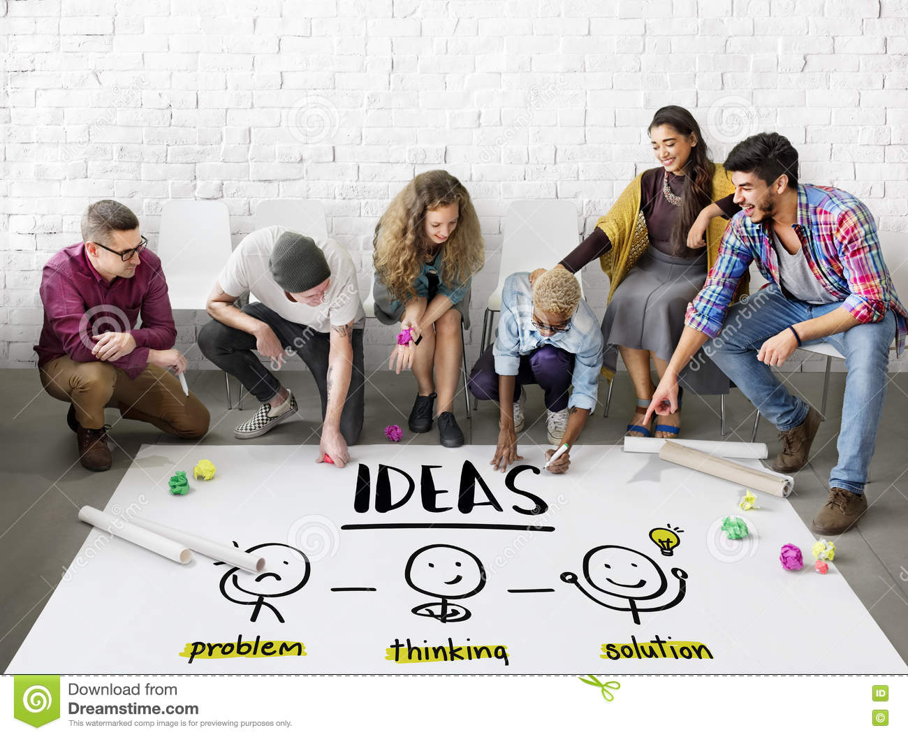 Ideas Creative Thinking People Graphic Concept