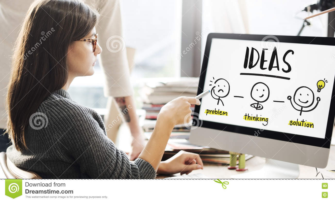 Download Ideas Creative Thinking People Graphic Concept Stock Image