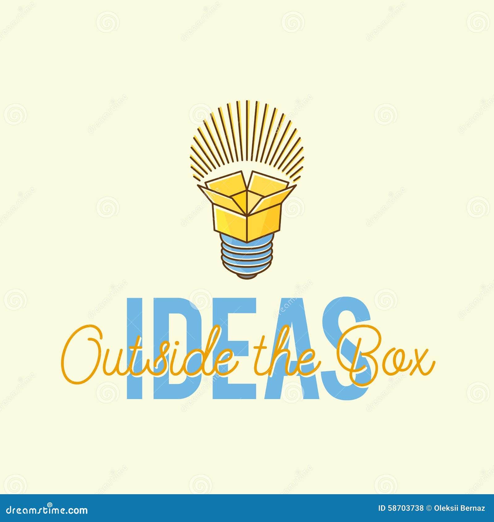 Ideas Outside The Box Abstract Vector Concept Logo