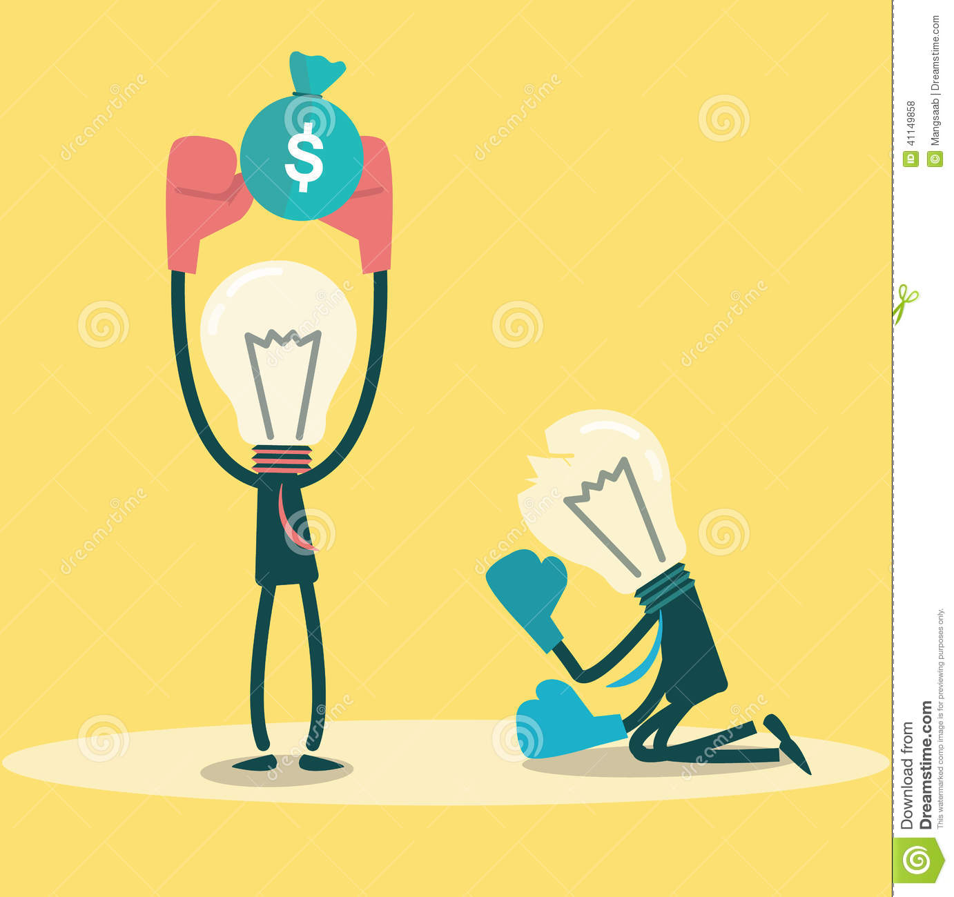 Ideas Winner Get Money. Business Competition Concept. Stock Vector ...