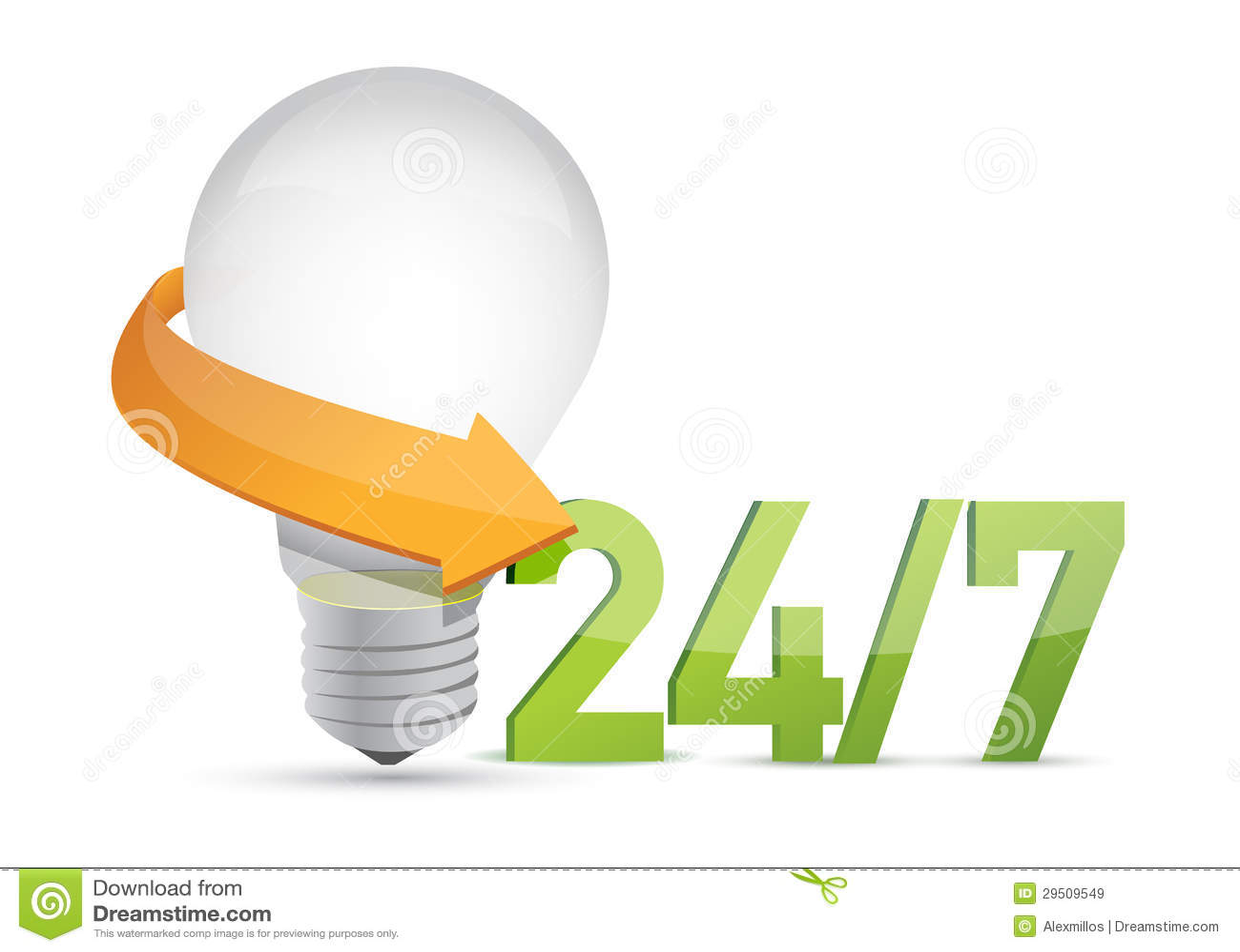 Ideeën 24 de 7 dienst bewegend concept
