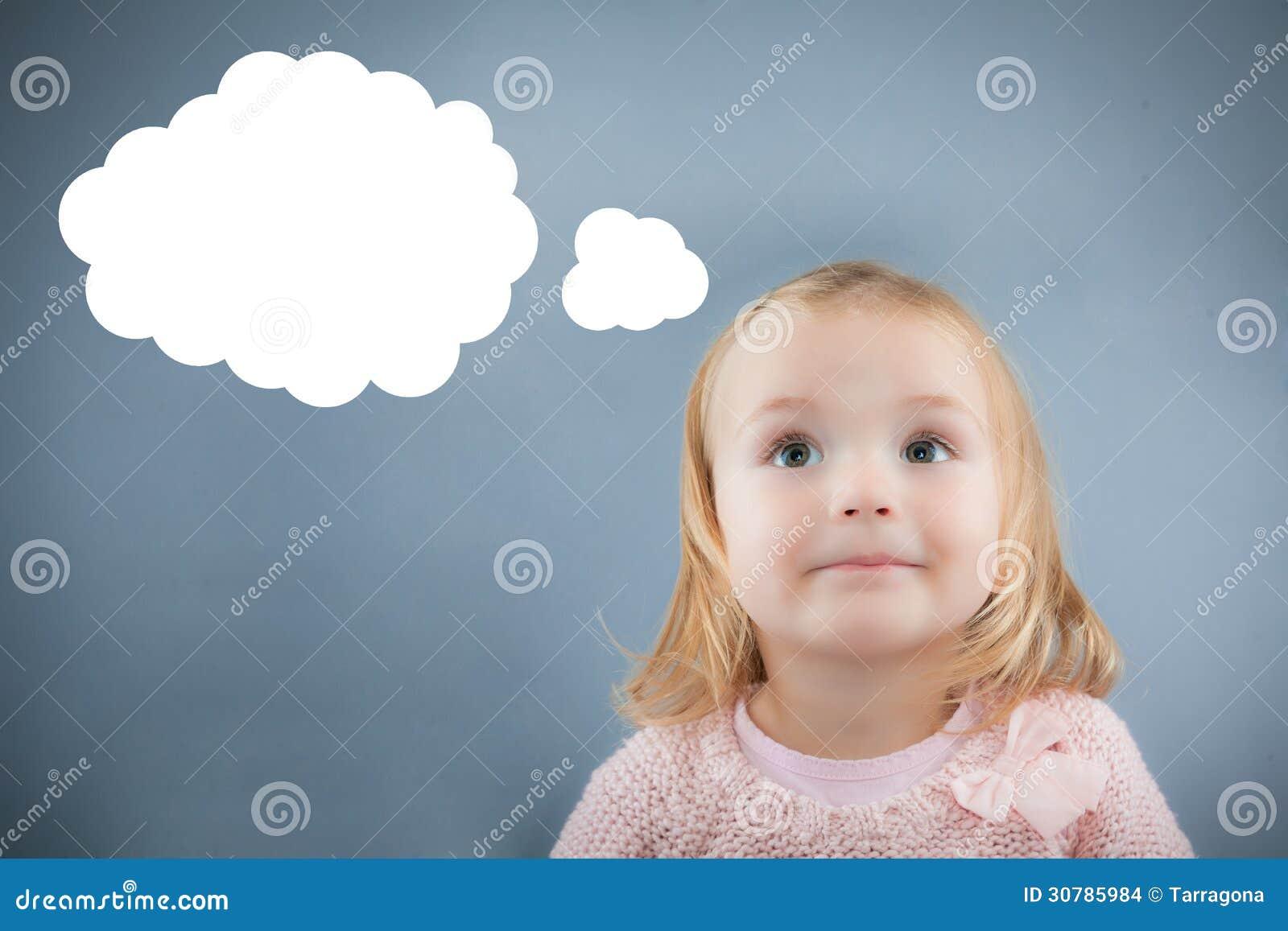 Idee denkend kind stock afbeeldingen afbeelding 30785984 - Baby meisje idee ...