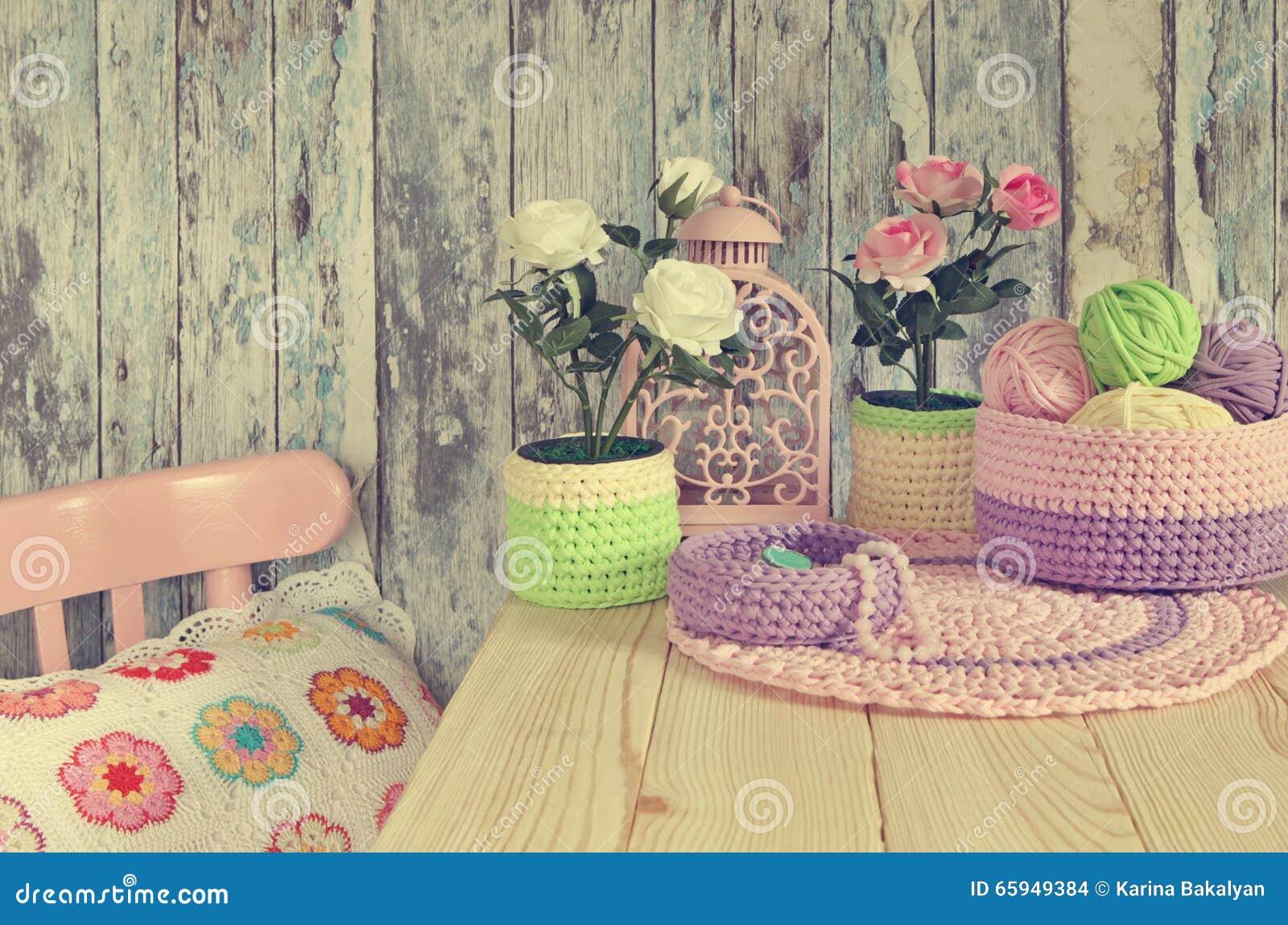 Idee tricottate della decorazione per la casa lavori all for Decoracion del hogar con crochet