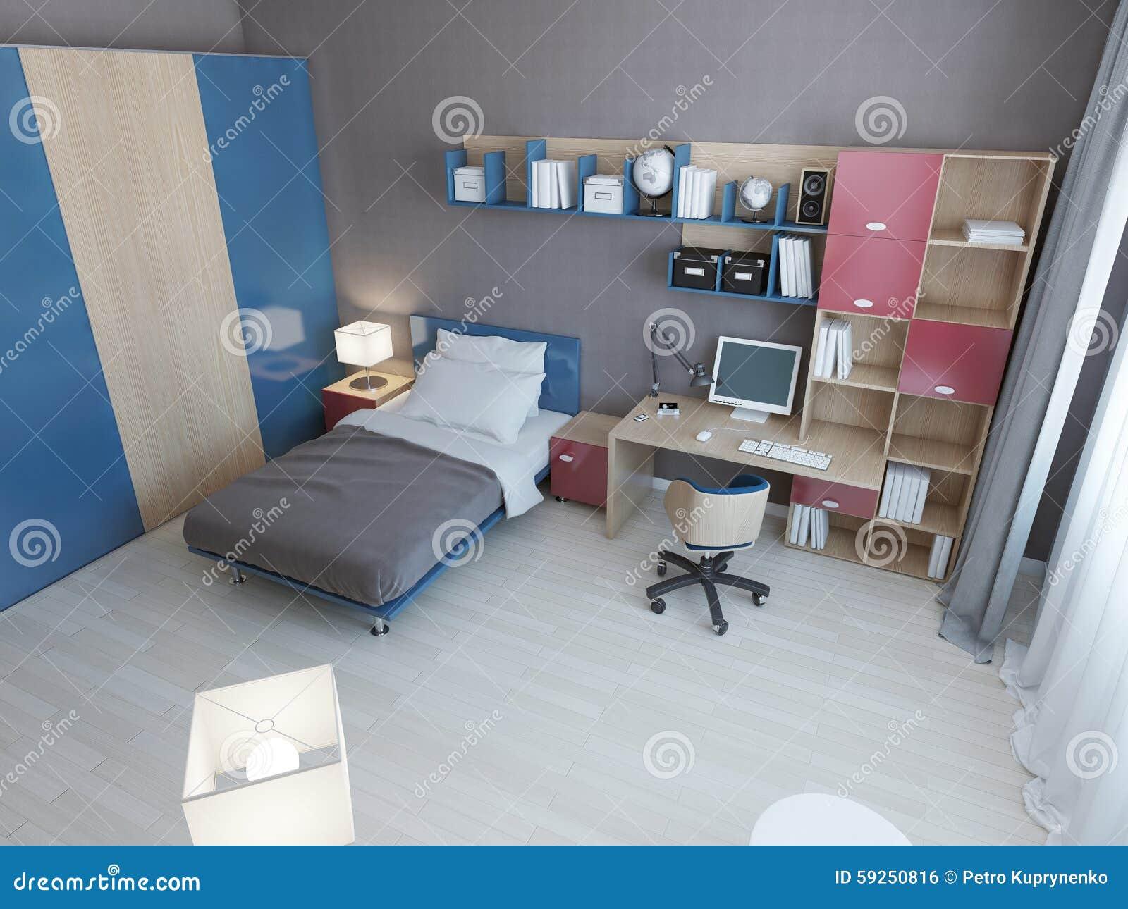 Idee van kinderen moderne slaapkamer stock illustratie ...