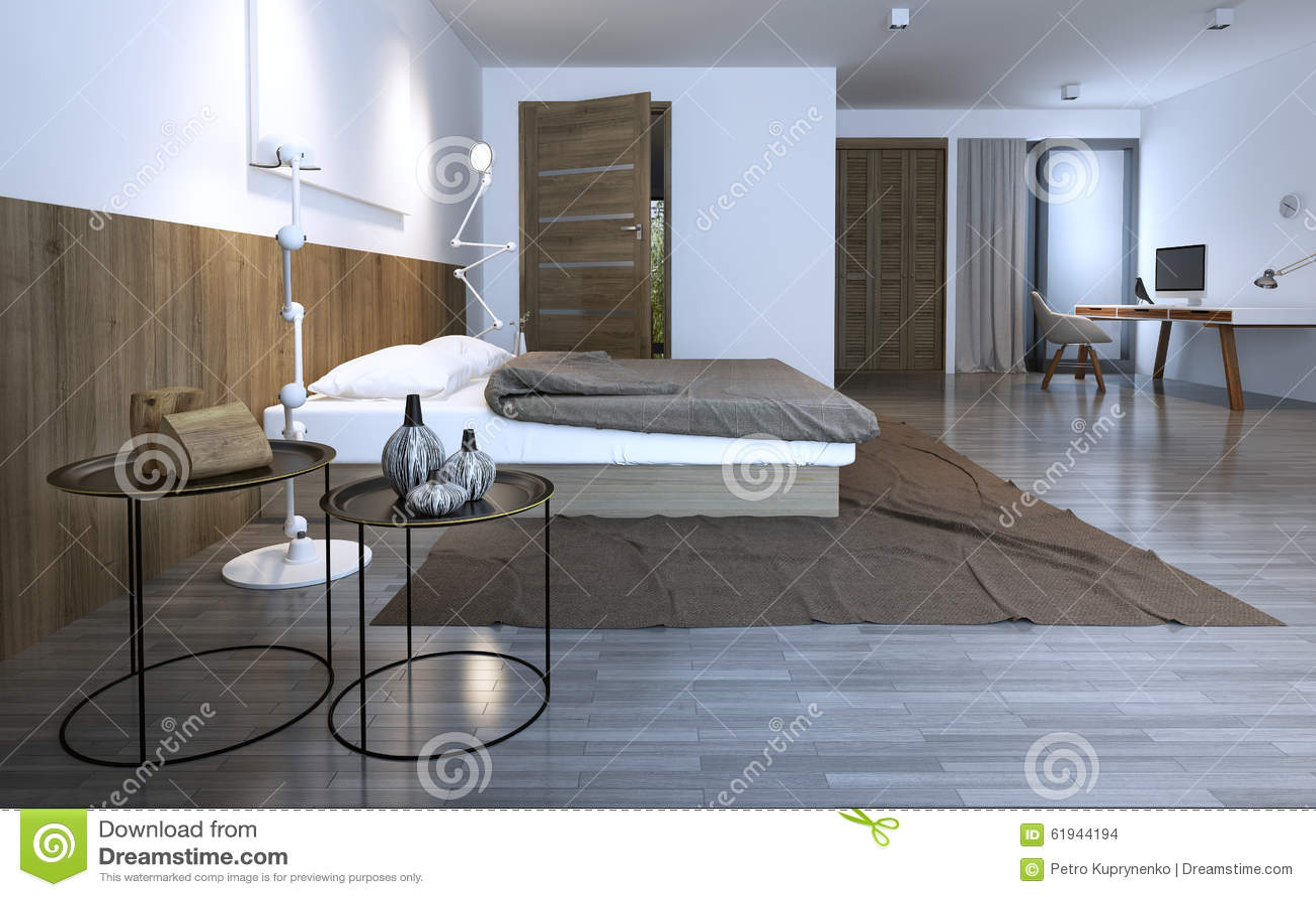 Slaapkamer meubilair met plafond - Idee van interieurontwerp ...