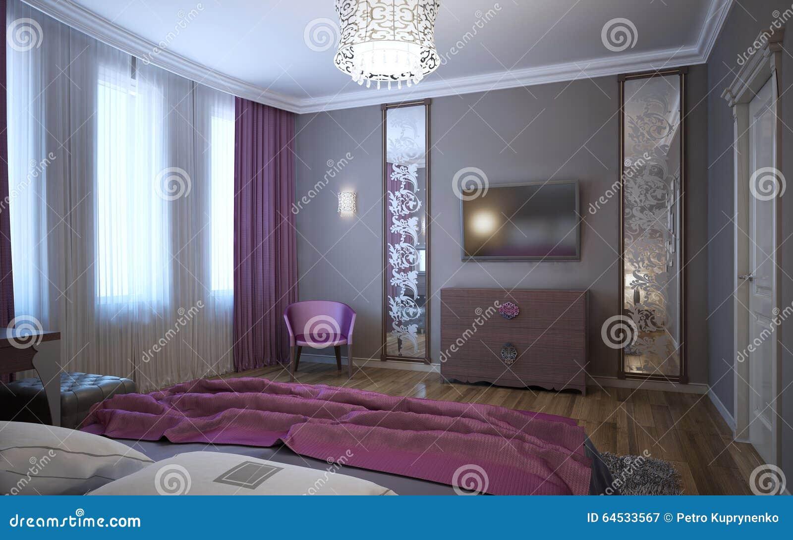 Idee Van Slaapkamer Voor De Jeugd Stock Afbeelding - Afbeelding ...