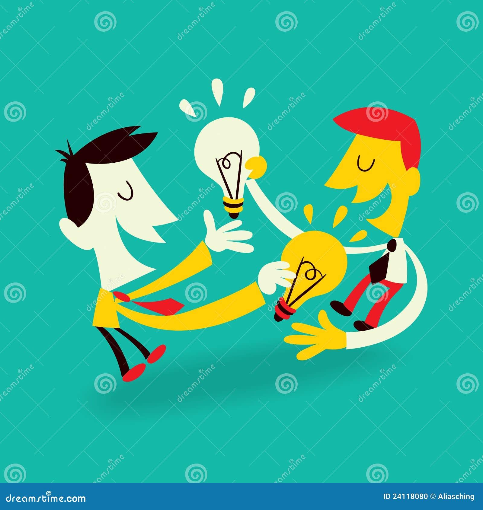 Ideen-Austausch vektor abbildung. Illustration von finanziell - 24118080