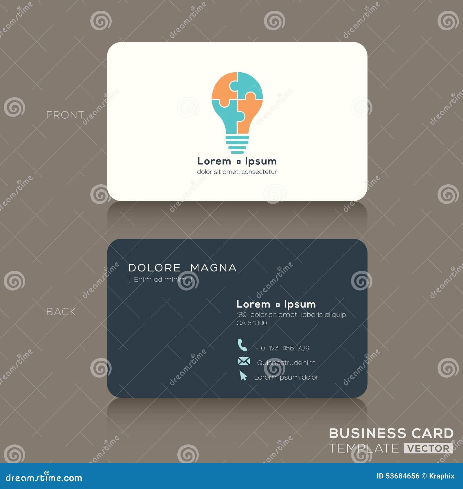 Ideen-kreative Visitenkarte-Design-Schablone Vektor Abbildung ...