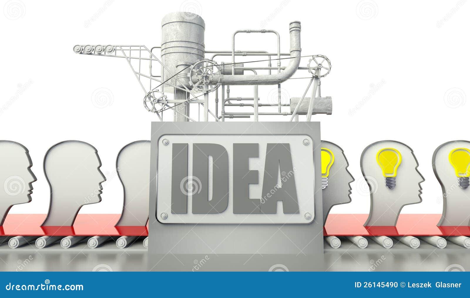 Ideenkonzept mit Glühlampen im Verstand der Leute