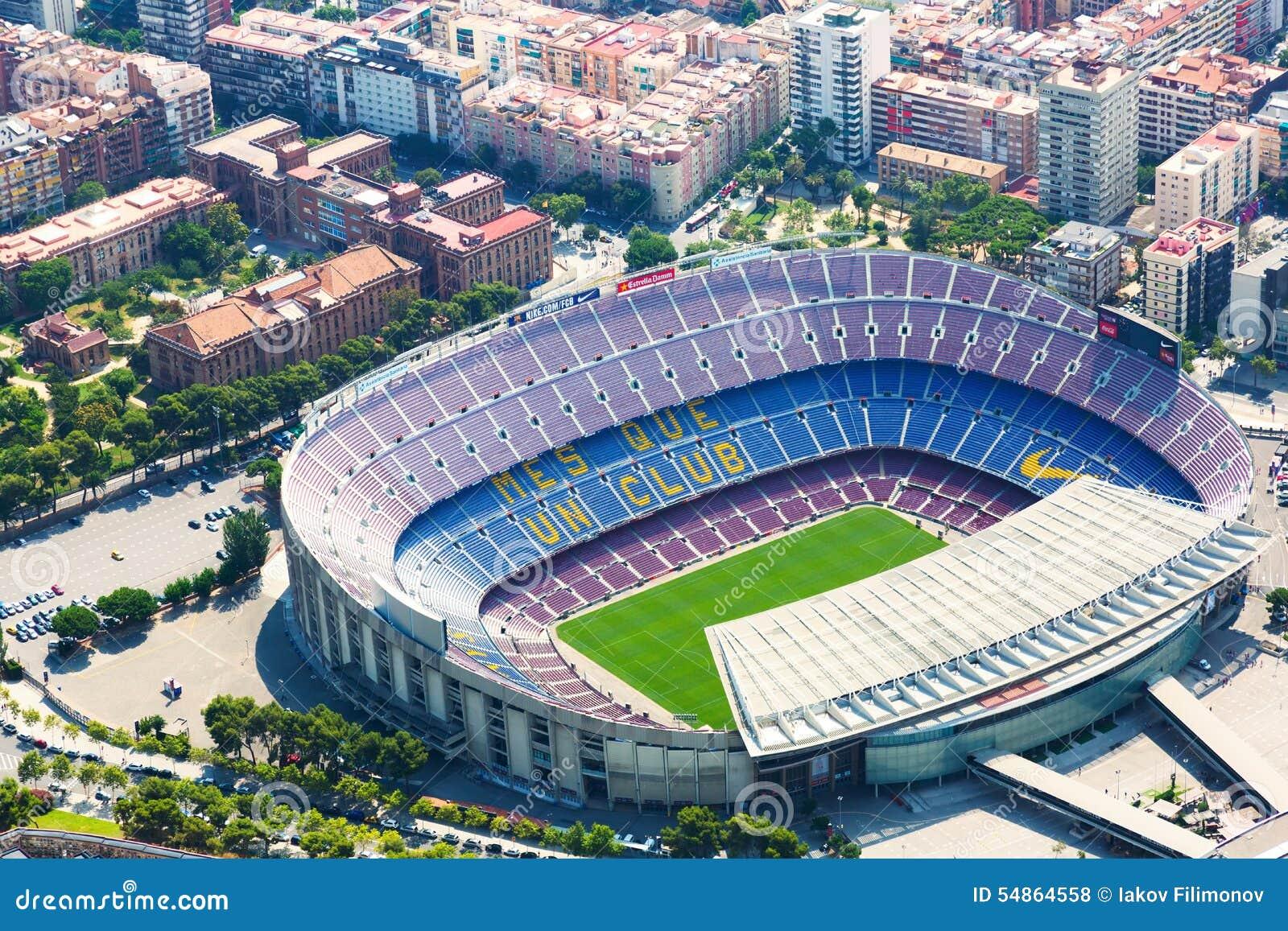 Ideia Aerea Do Estadio O Maior De Camp Nou De Barcelona Foto De Stock Editorial Imagem De Barcelona Estadio 54864558