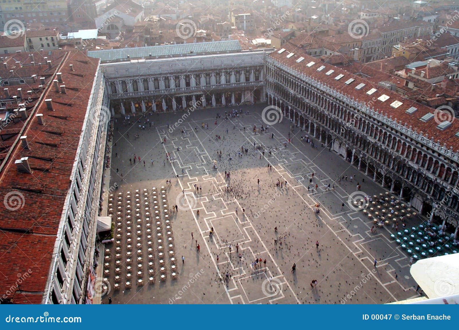 Ideia aérea do quadrado de San Marco
