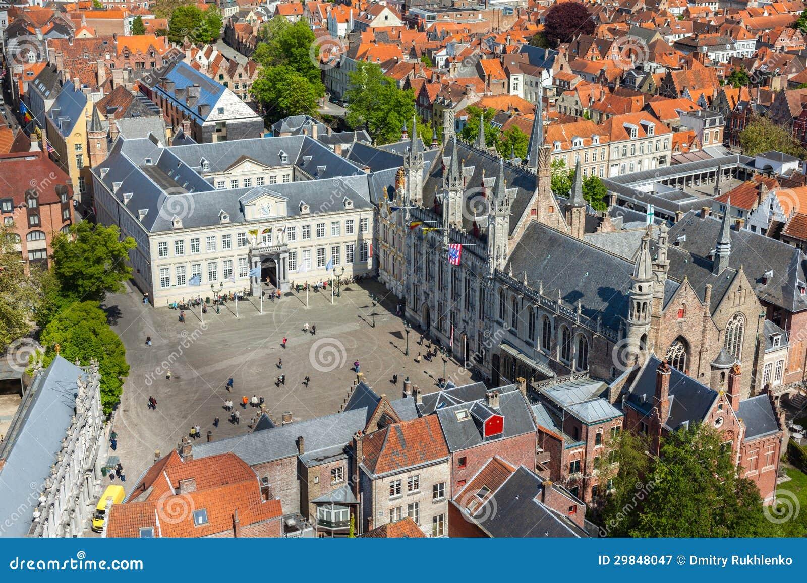 Vista aérea de Bruges (Bruges), Bélgica