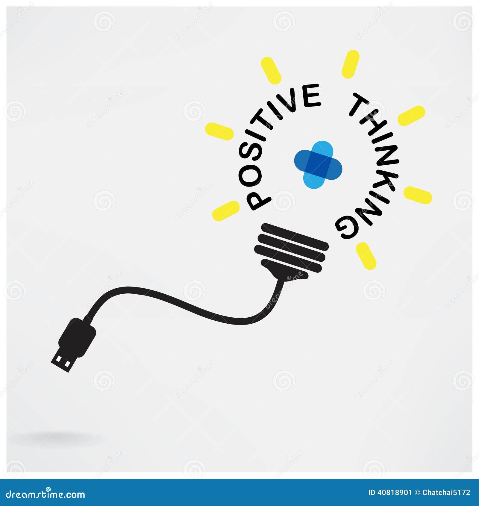 Ideia criativa da ampola, ideia do negócio, símbolo abstrato, positiv
