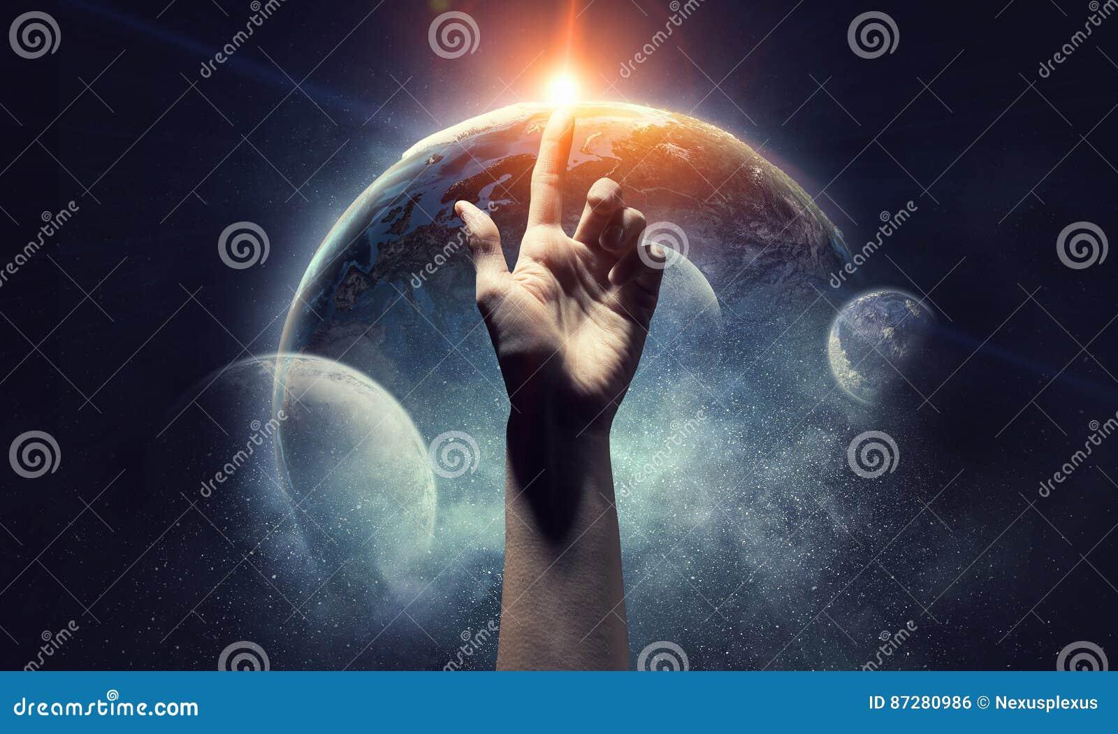 Ideia da criação da terra Meios mistos