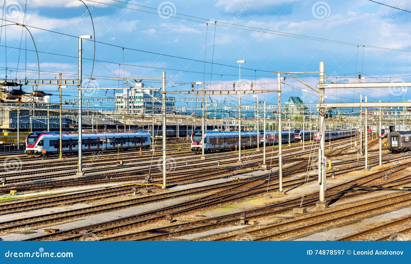 Ideia da estação de trem de Basileia SBB