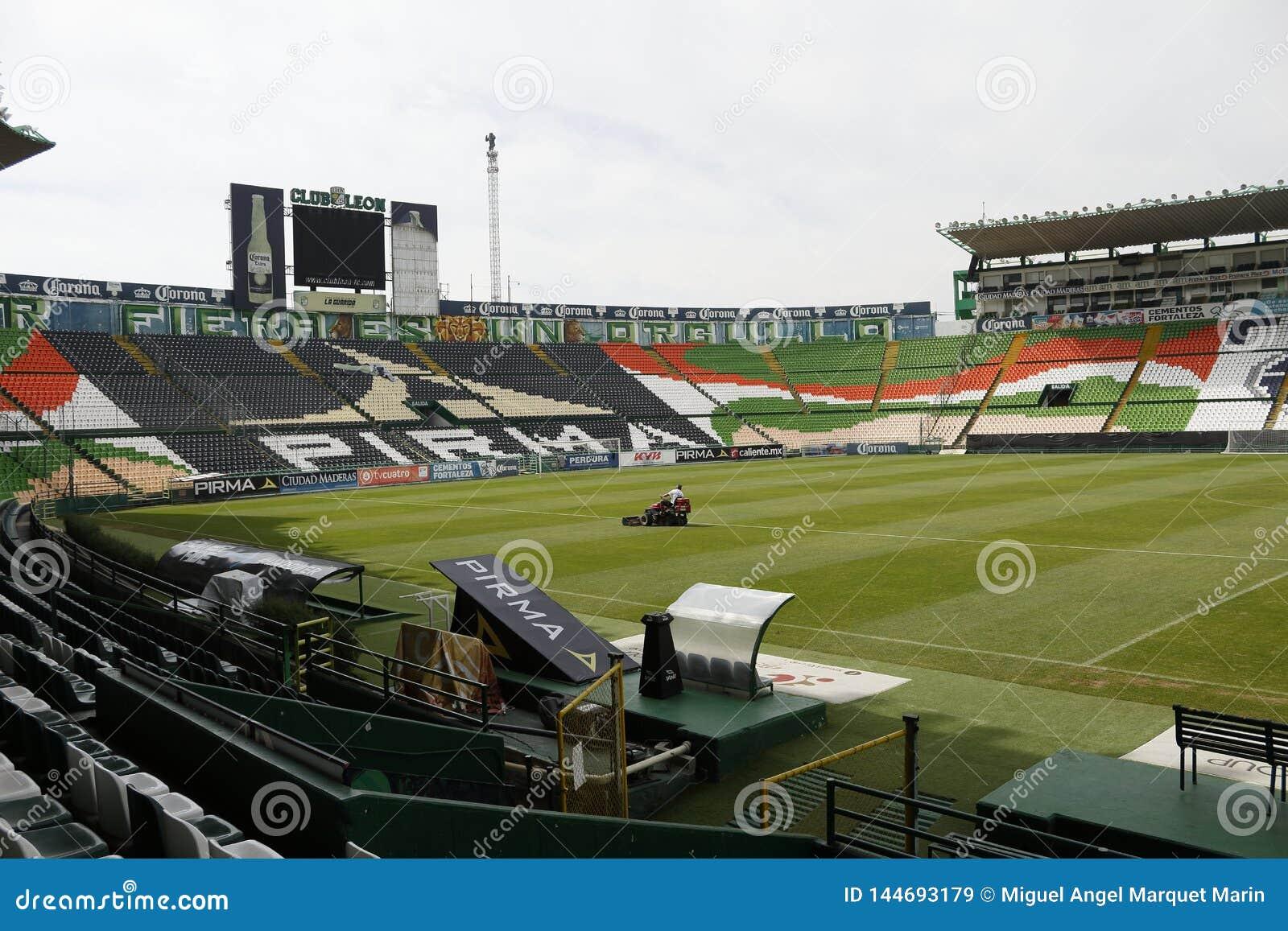 Ideia deixada dos assentos de Estadio Leon, Leon, Guanajuato