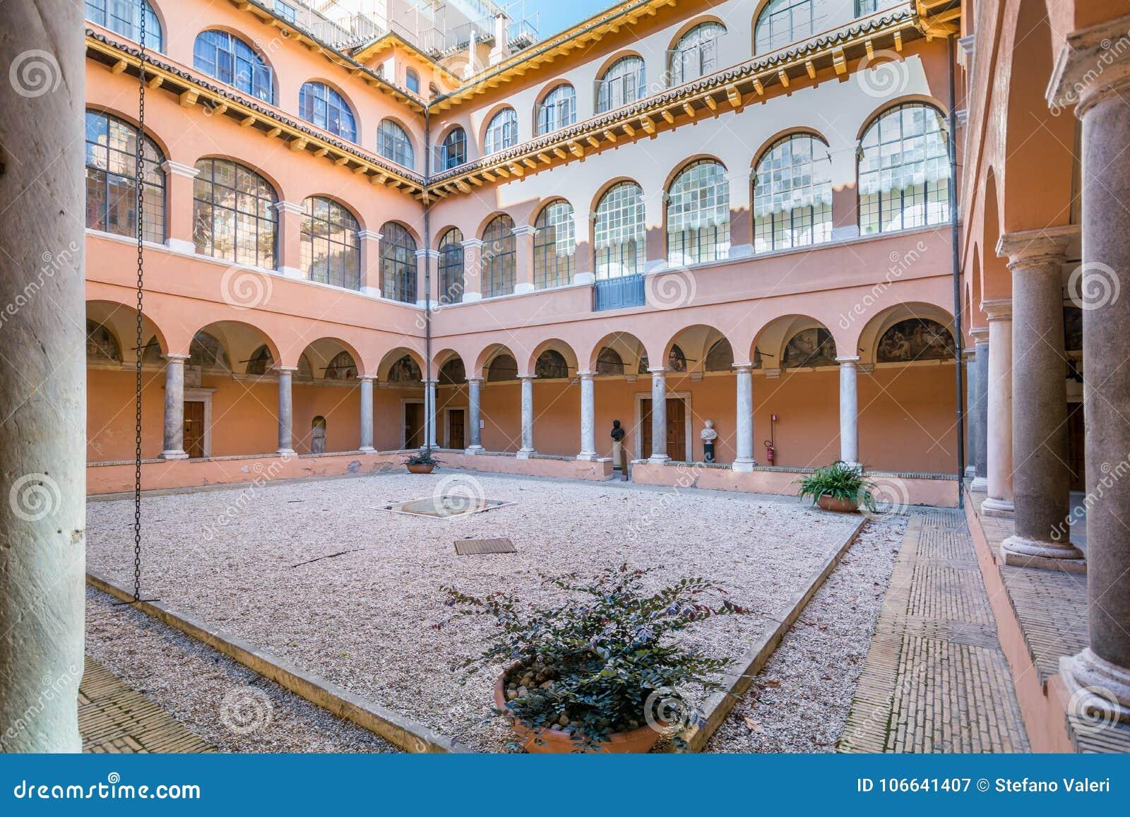 Ideia do claustro da academia espanhola em Roma
