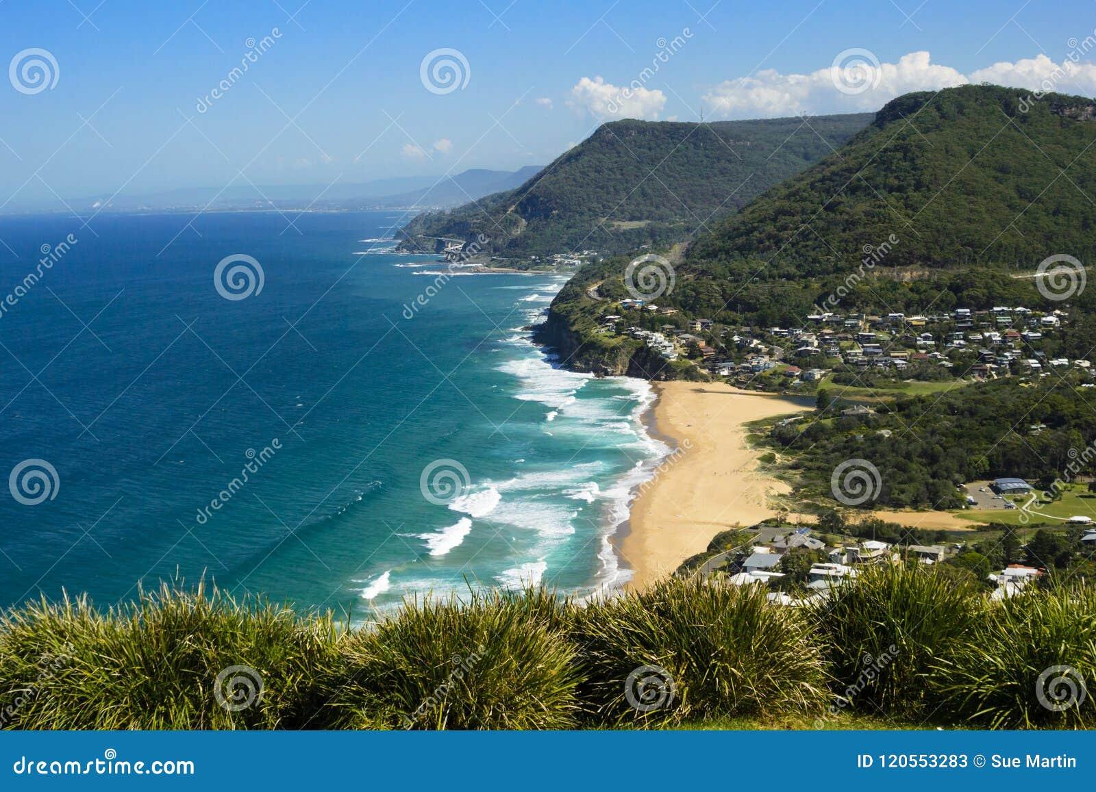 Ideia do litoral de Novo Gales do Sul, Austrália