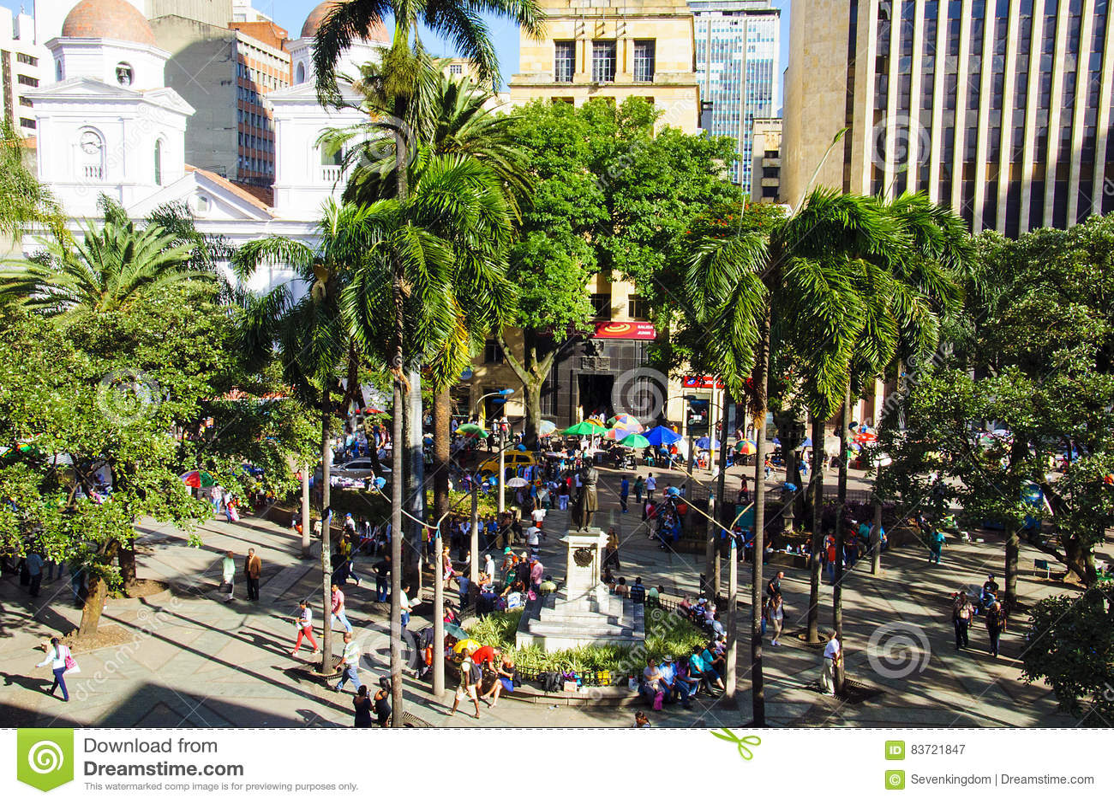 Ideia do squarein Medellin de Berrio, Colômbia