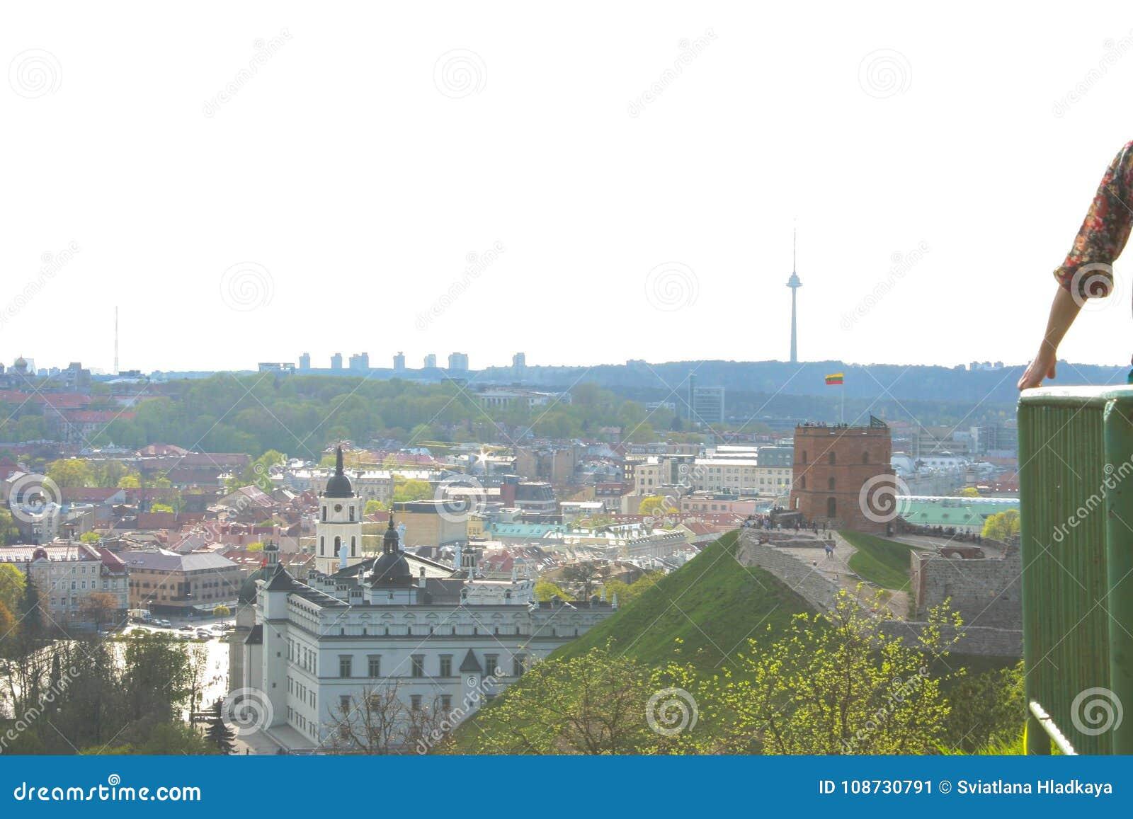 Ideia superior das vistas principais de Vilnius