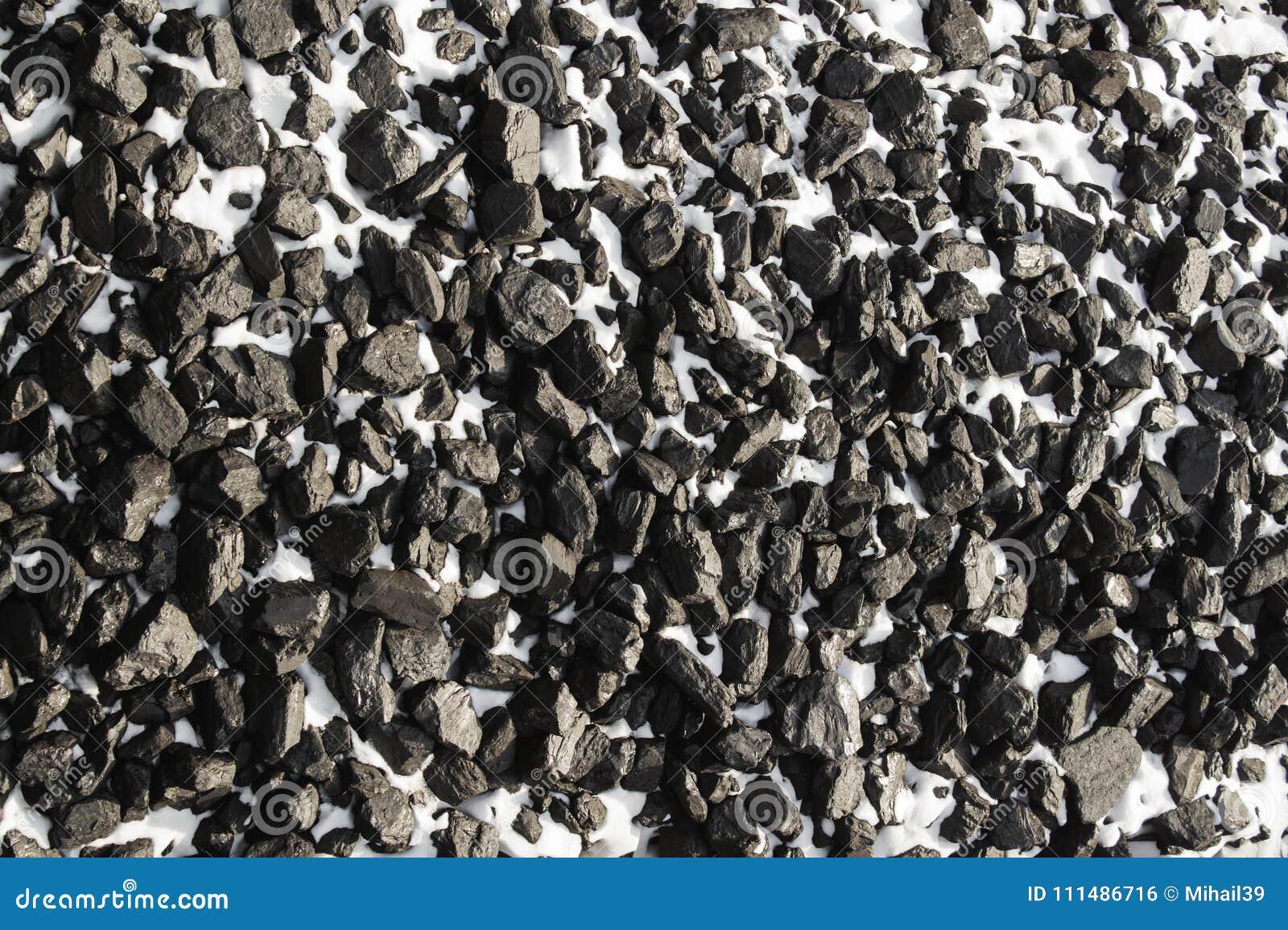 Ideia superior do preto mineral do depósito da mina de carvão para o fundo Usado como o combustível para o carvão industrial