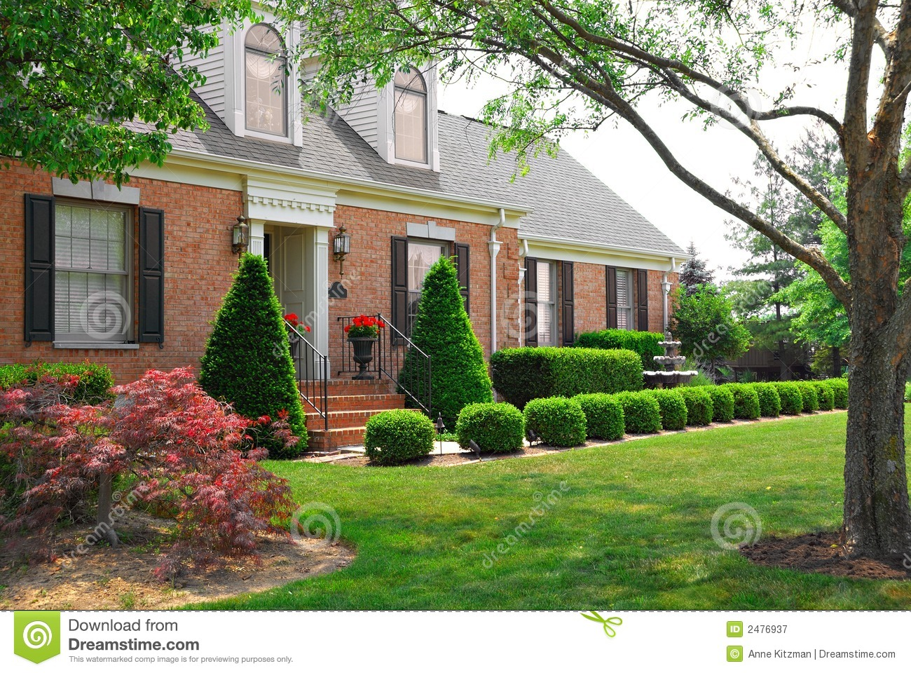 Idential 2 Story Brick Home Royalty Free Stock Photography