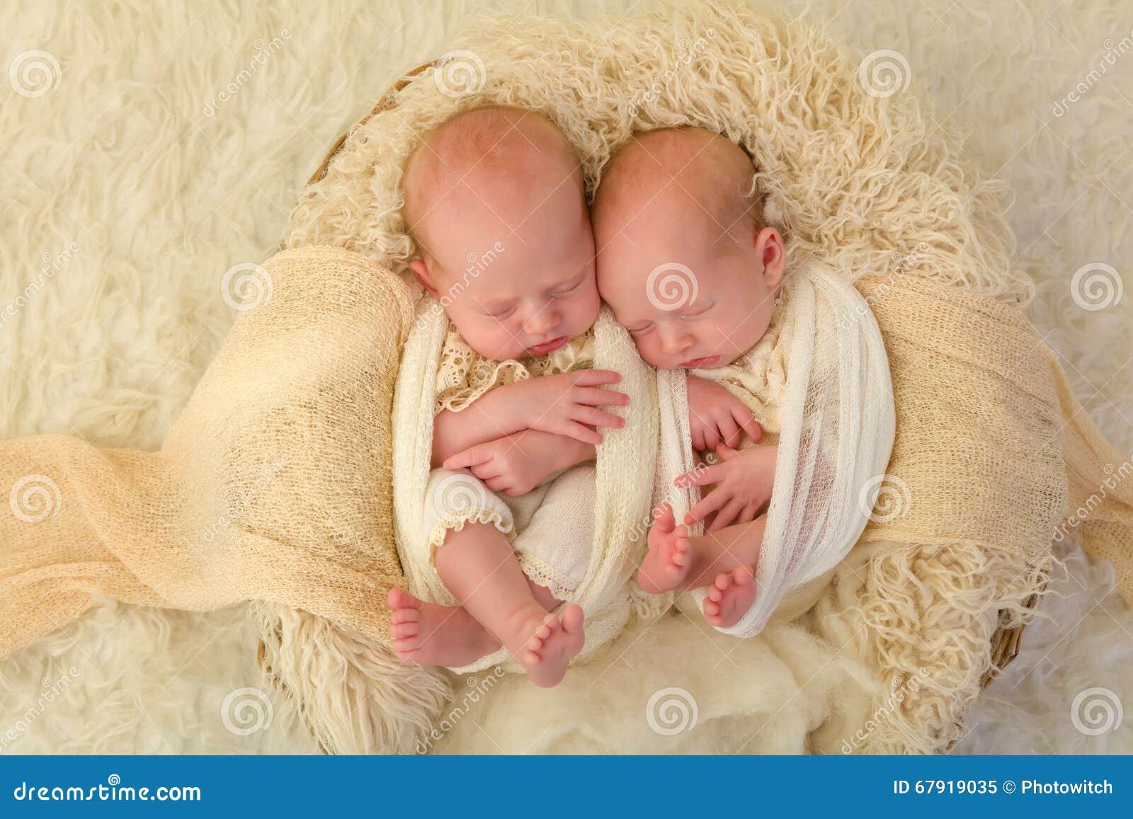 Identical Newborn Twins Stock Photo - Image: 67919035