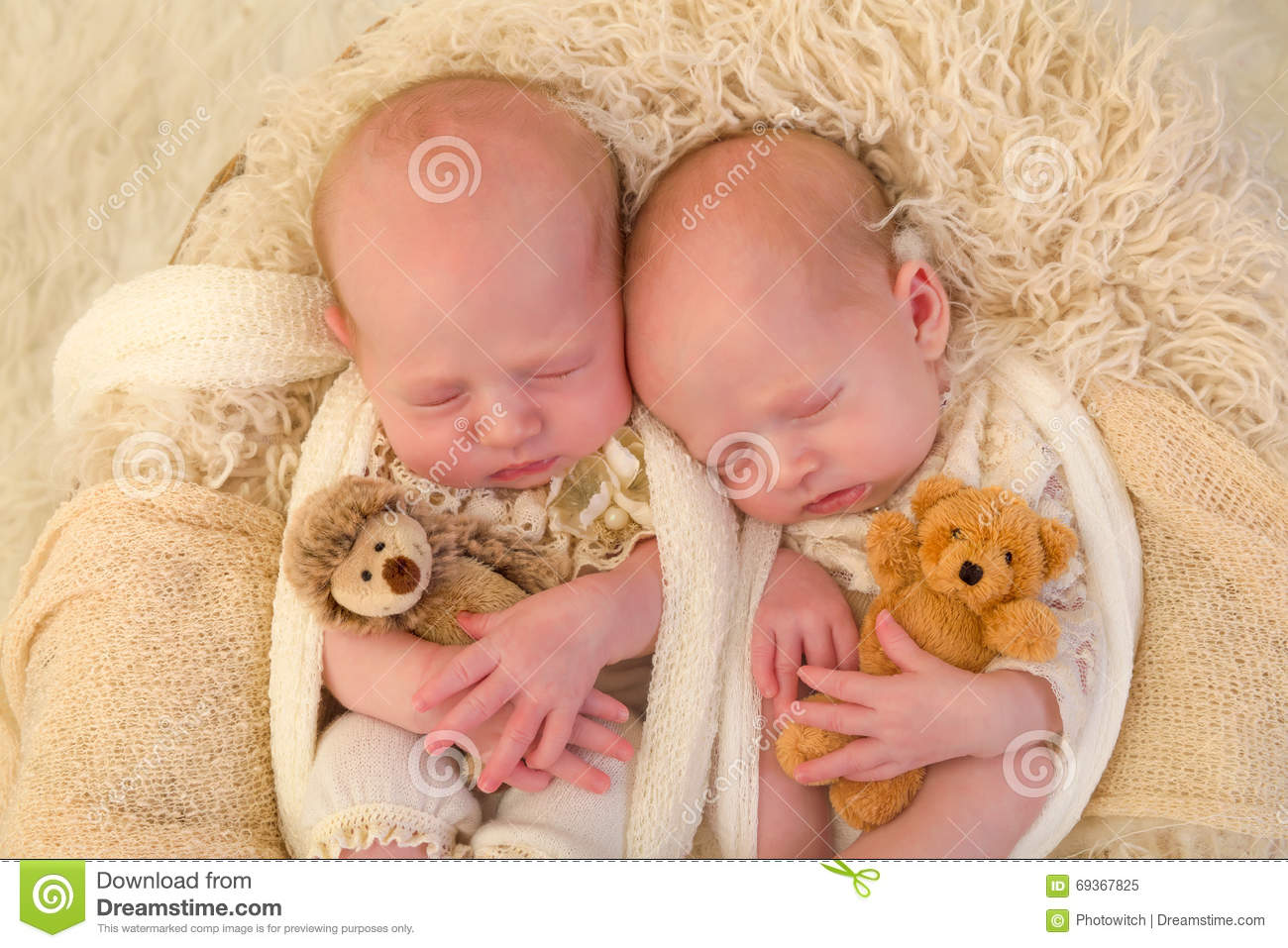Toys For Twins : Identical twins with toys stock image of little
