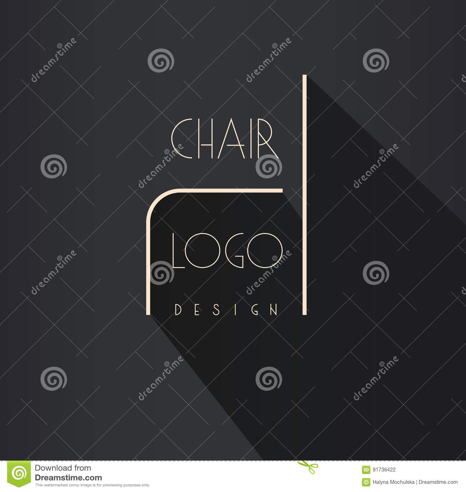 Identidad De Marca Del Interiorista Línea Logotipo De La Silla ...