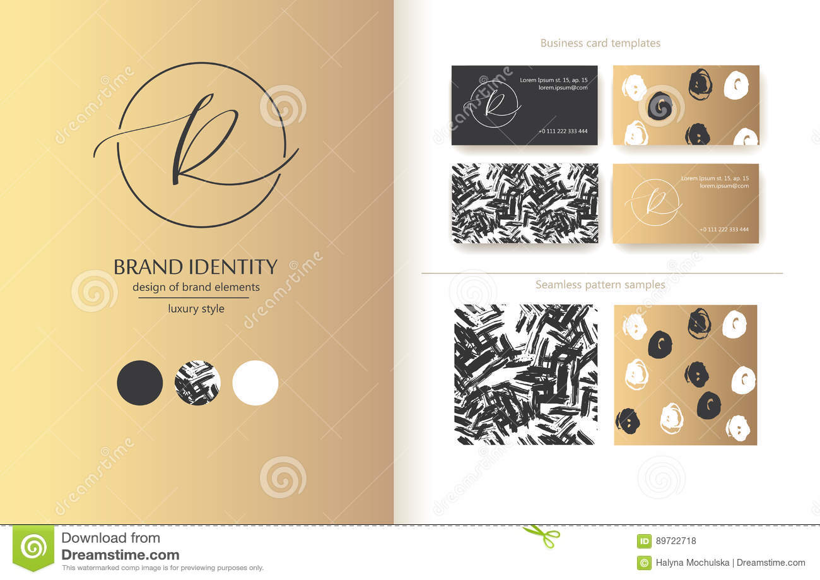 Identidad De Marca Sofisticada Línea De R De La Letra Logotipo ...