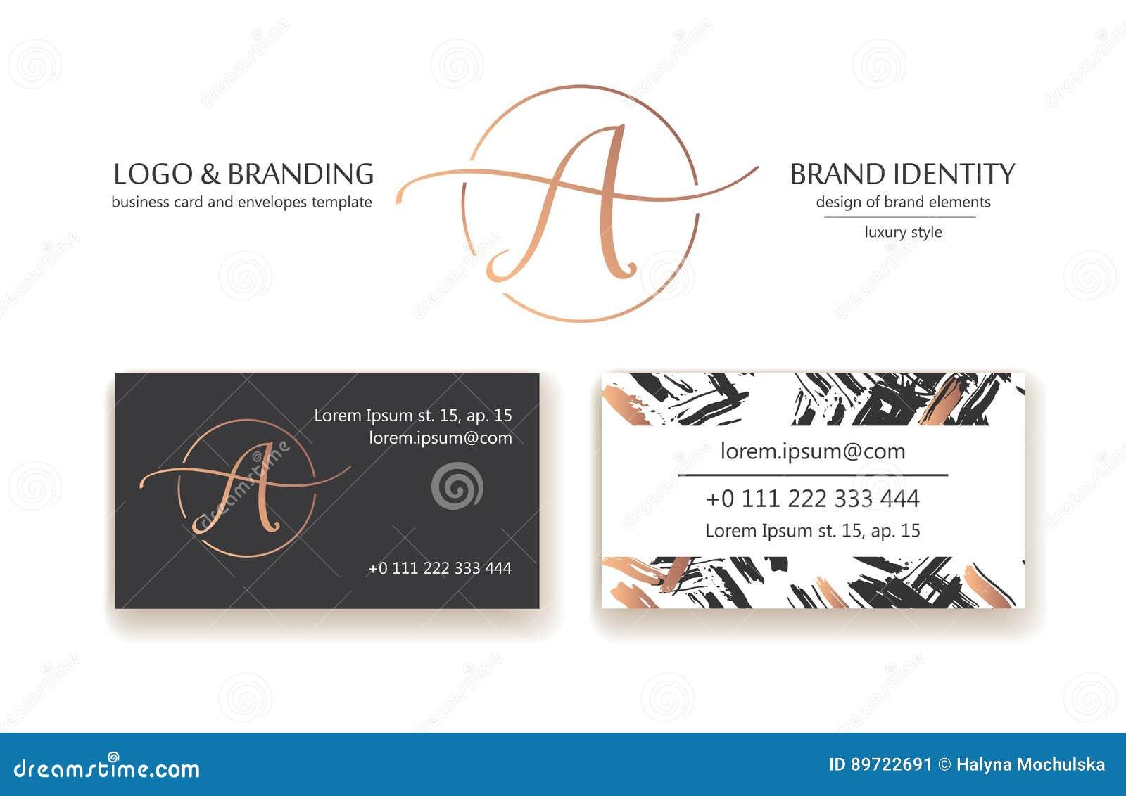 Identidad De Marca Sofisticada Letra La Línea Logotipo De A ...
