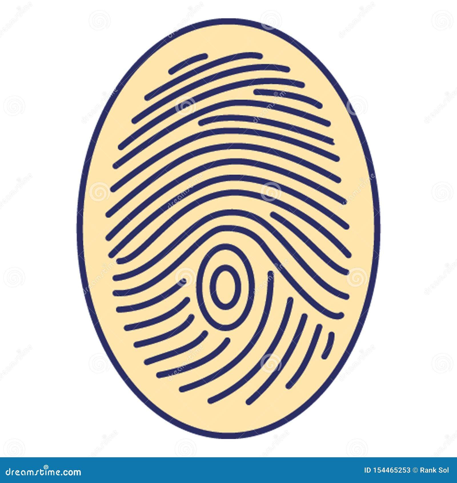 Identificação biométrica, ícone do vetor do dactylogram que pode facilmente alterar ou editar