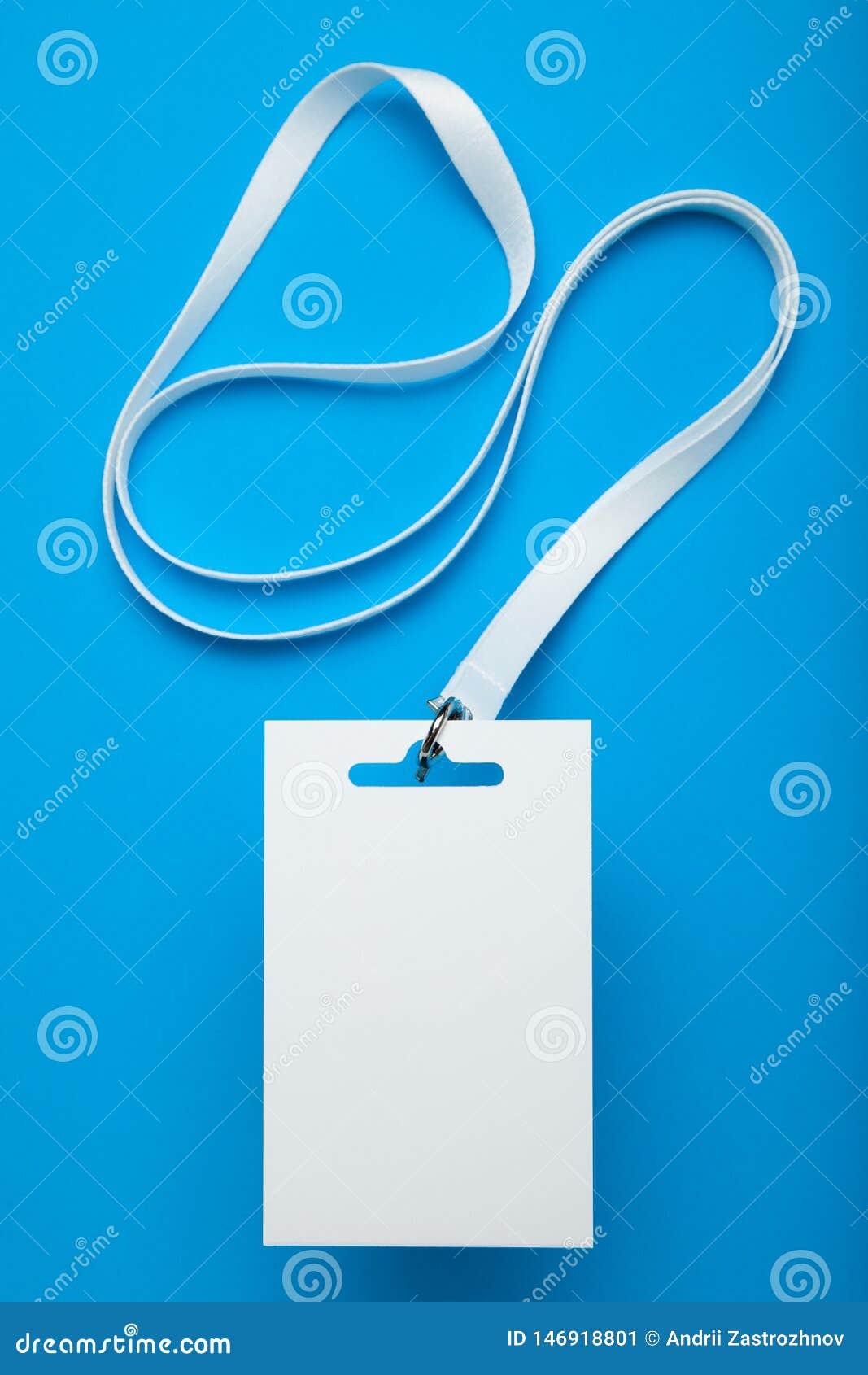 Identificación de la tarjeta, maqueta de la identidad del personal con el acollador