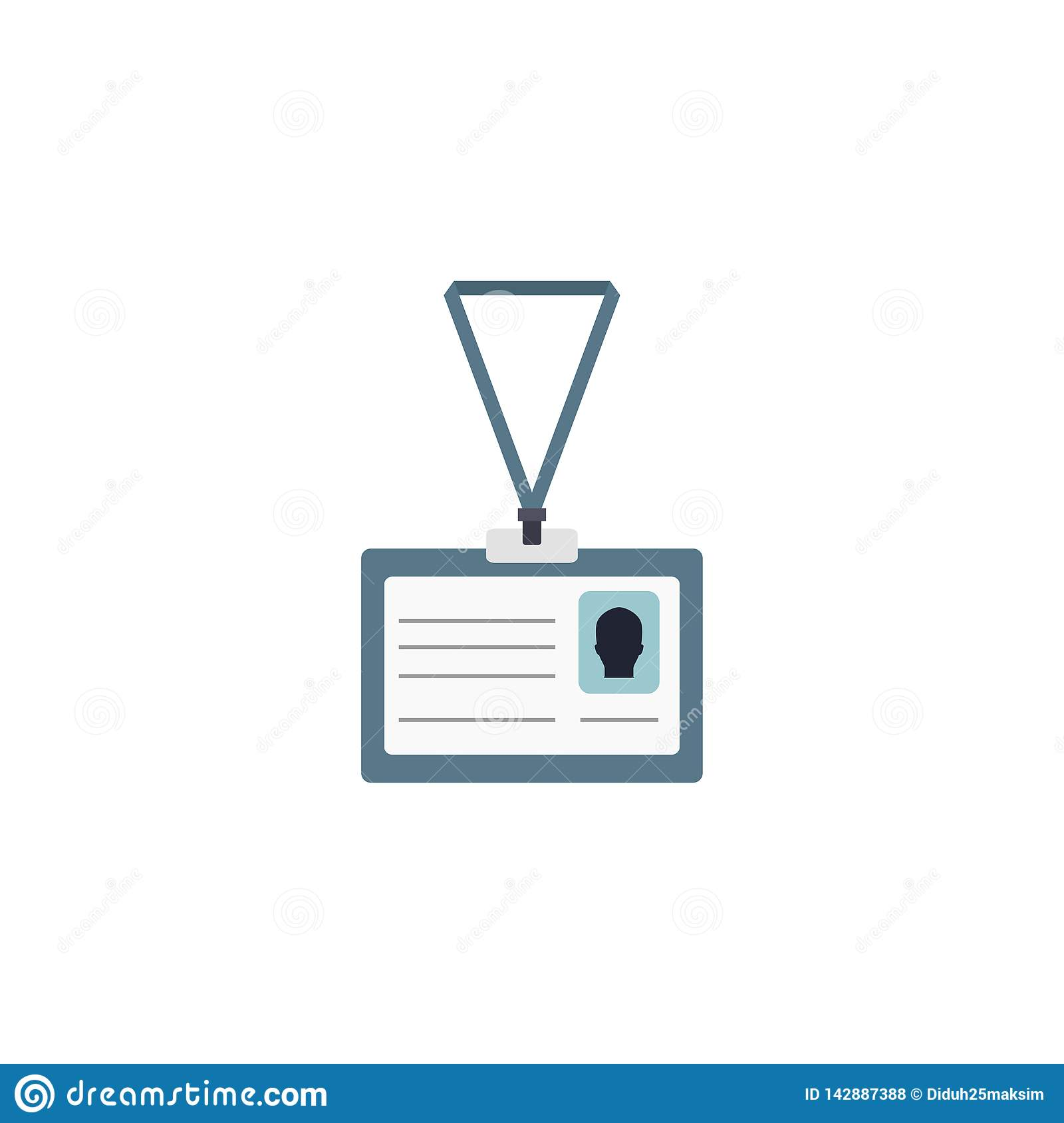 Identification card icon. Identity. Vector illustration. EPS 10